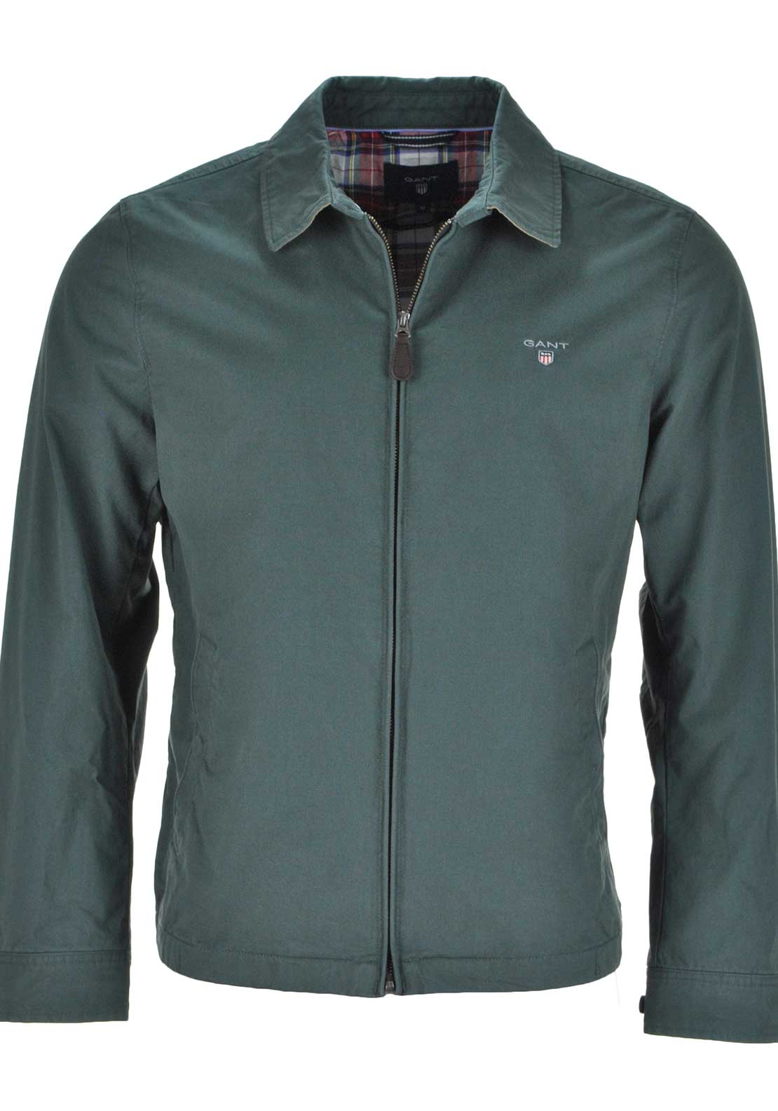 GANT Mens Windcheater Zip Up Jacket, Green