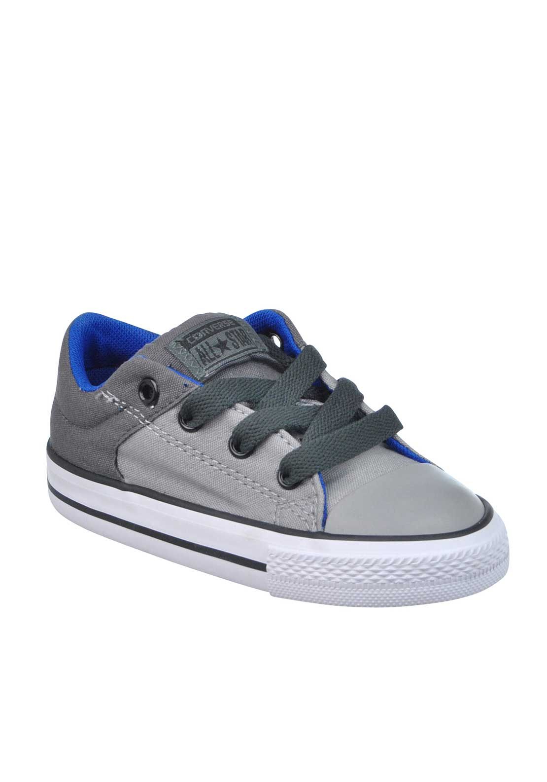 Converse Baby Boys All Star Canvas Trainers, Grey