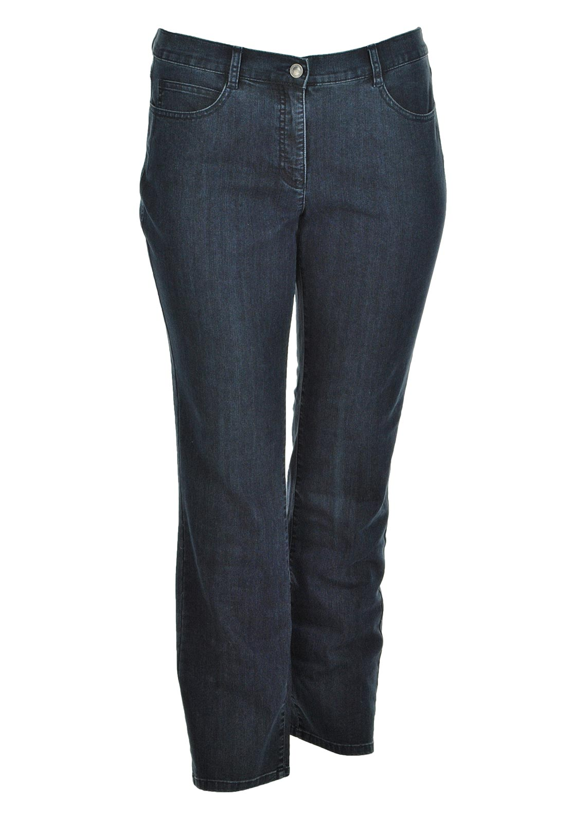 Lebek Fade Effect Straight Leg Jeans, Navy Denim