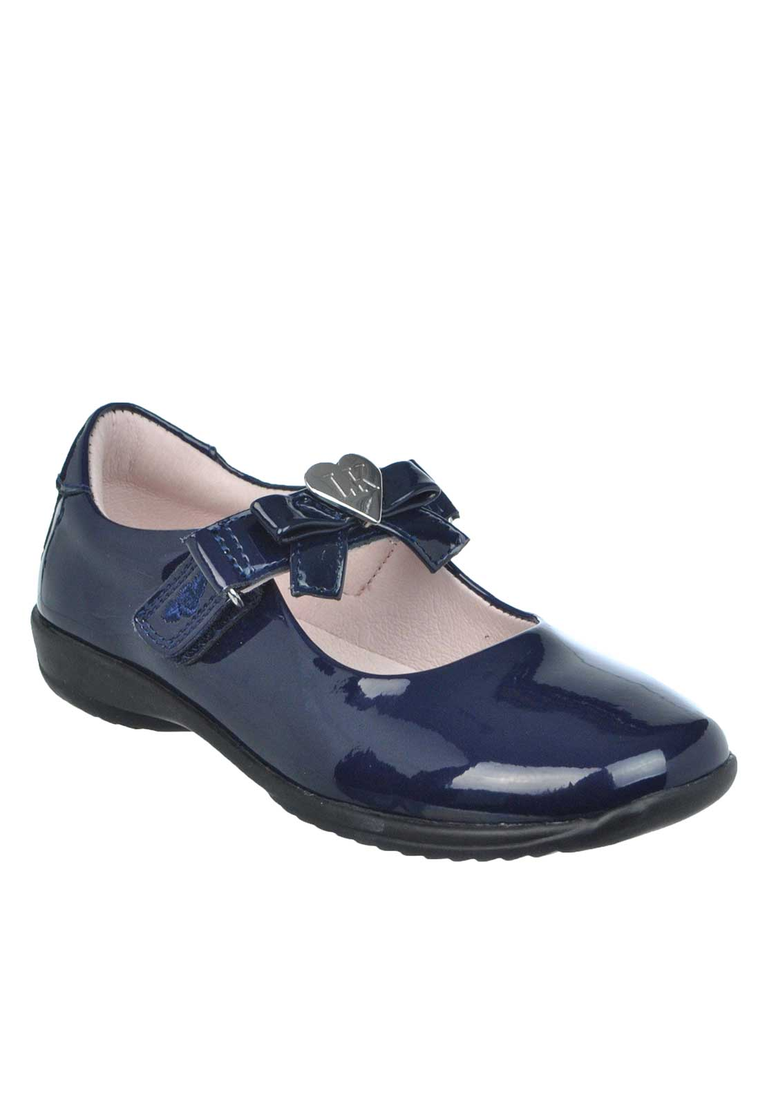 Lelli Kelly Girls Patent Leather Interchangeable Strap Shoes, Navy