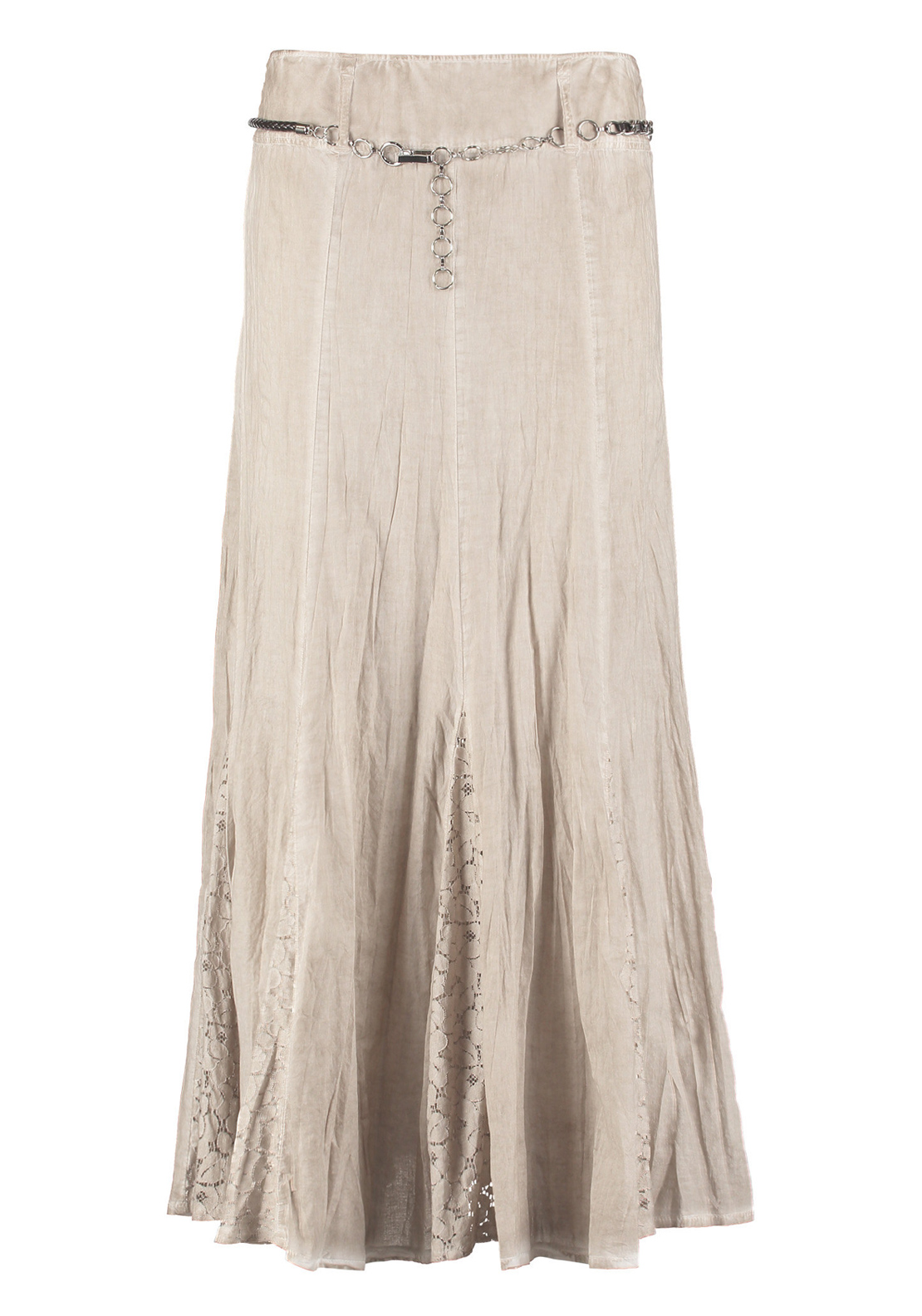 Gerry Weber A-Line Lace Trim Maxi Skirt, Beige