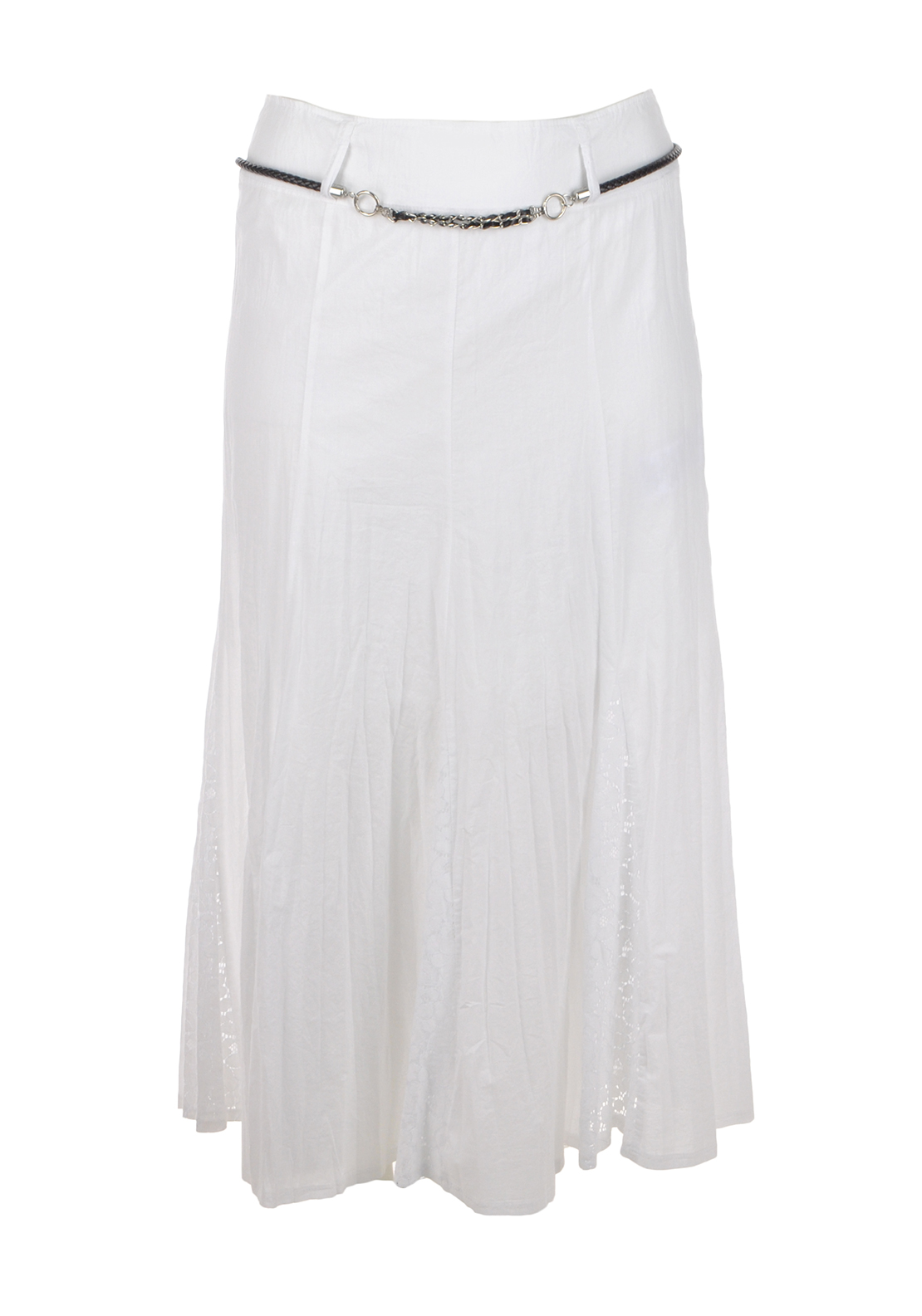Gerry Weber A-Line Lace Trim Maxi Skirt, White