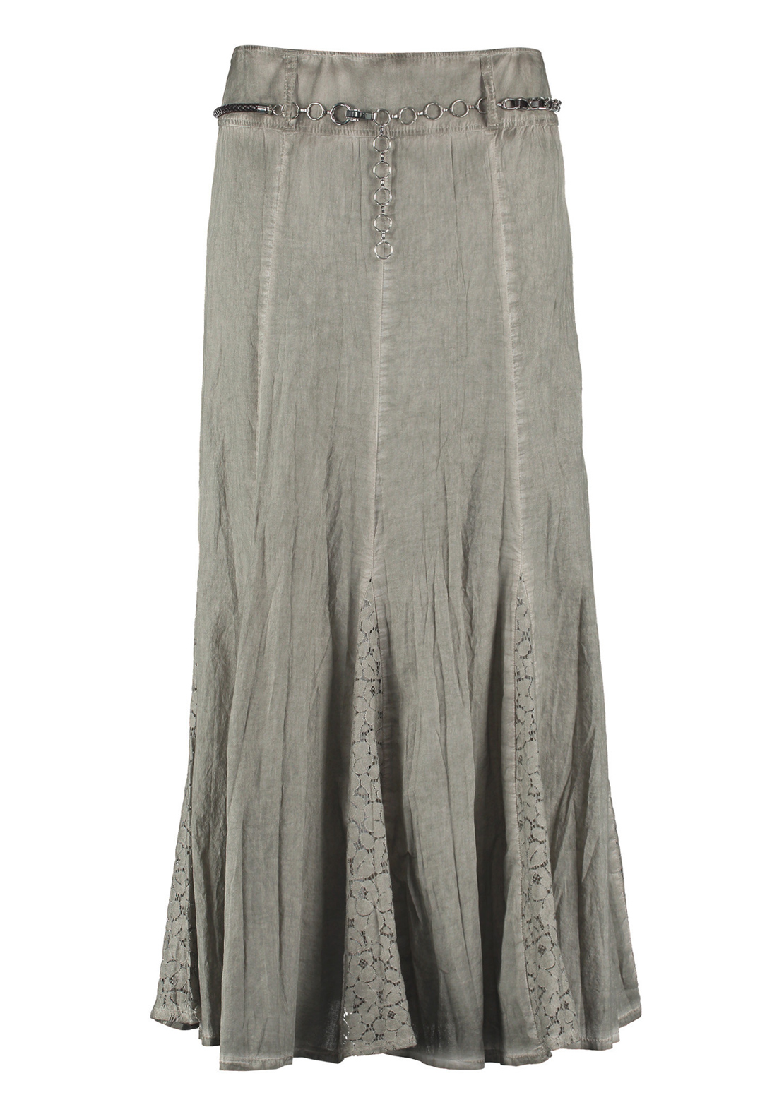 Gerry Weber A-Line Lace Trim Maxi Skirt, Olive