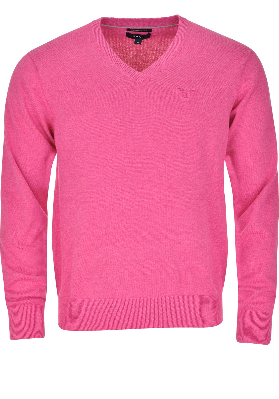 GANT Mens Lightweight Cotton V-neck, Pink