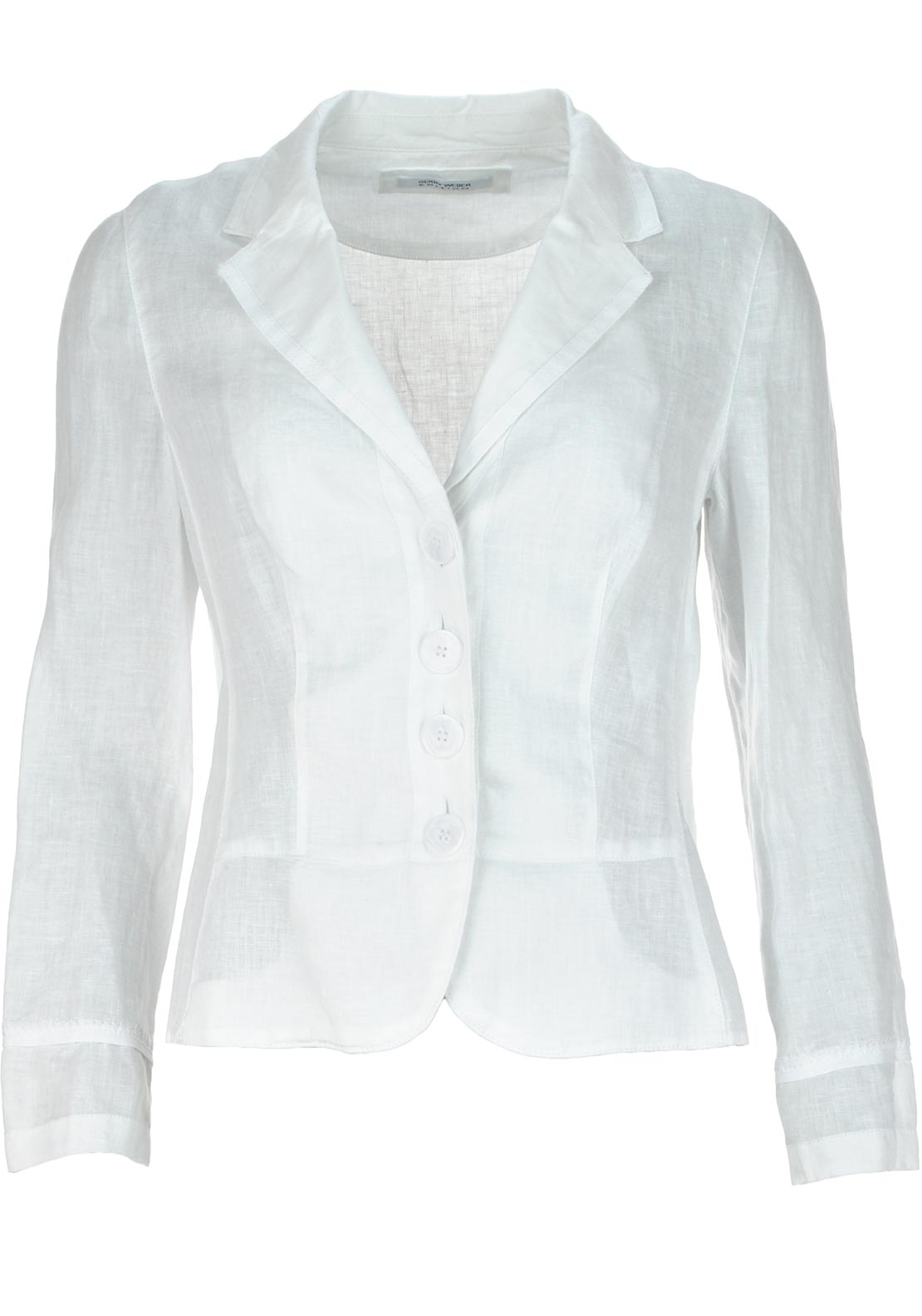 Gerry Weber Linen Blazer Jacket, White