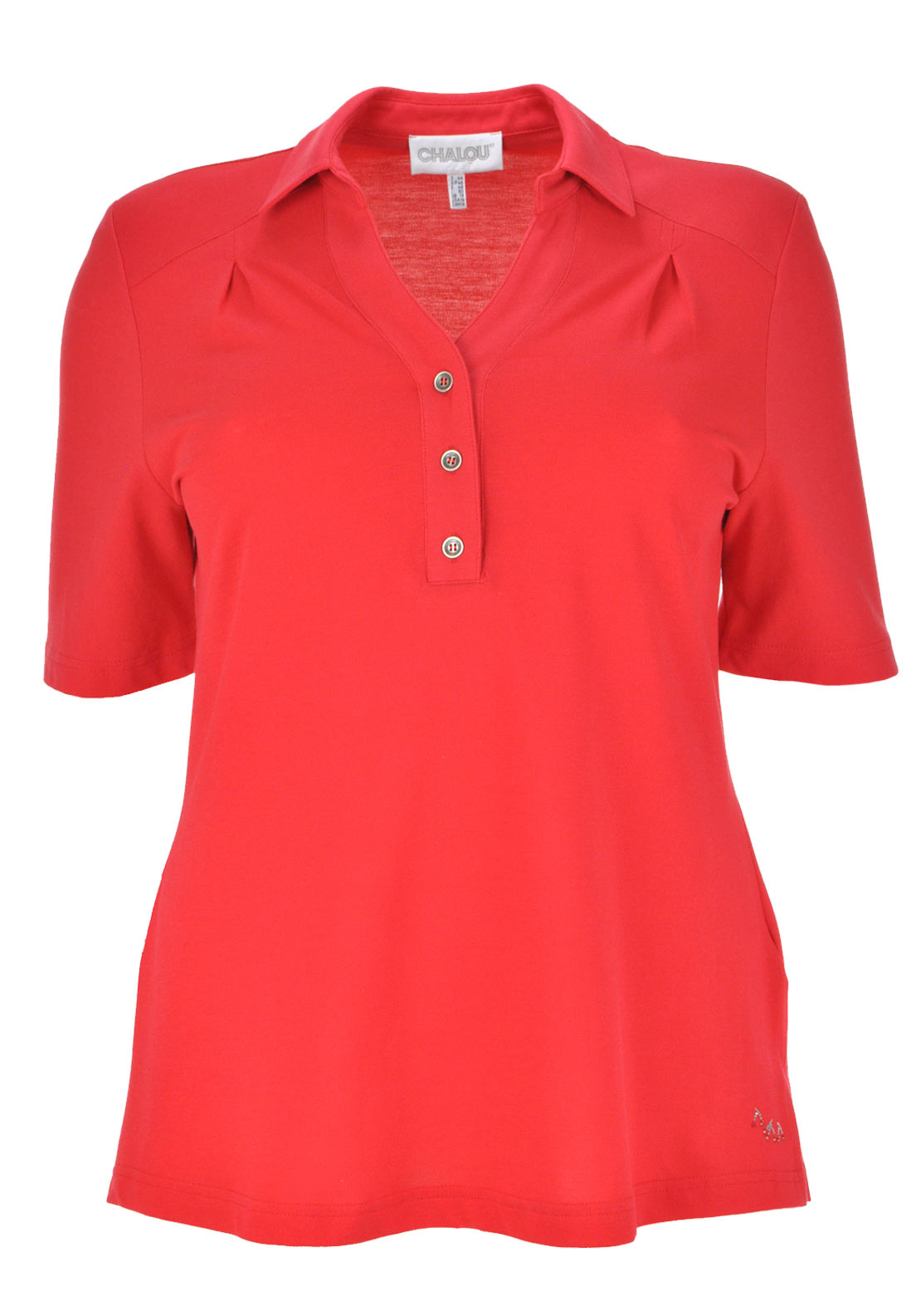 Chalou Short Sleeve Polo Shirt, Red