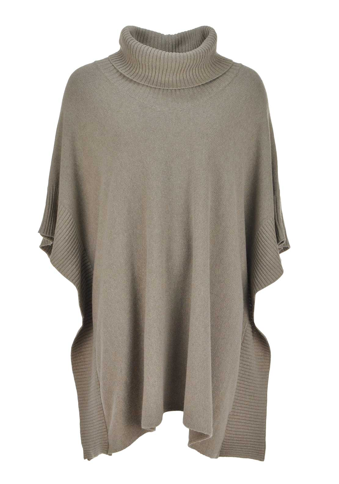 Apanage Relaxed Fit Fine Knit Poncho Cardigan, Beige