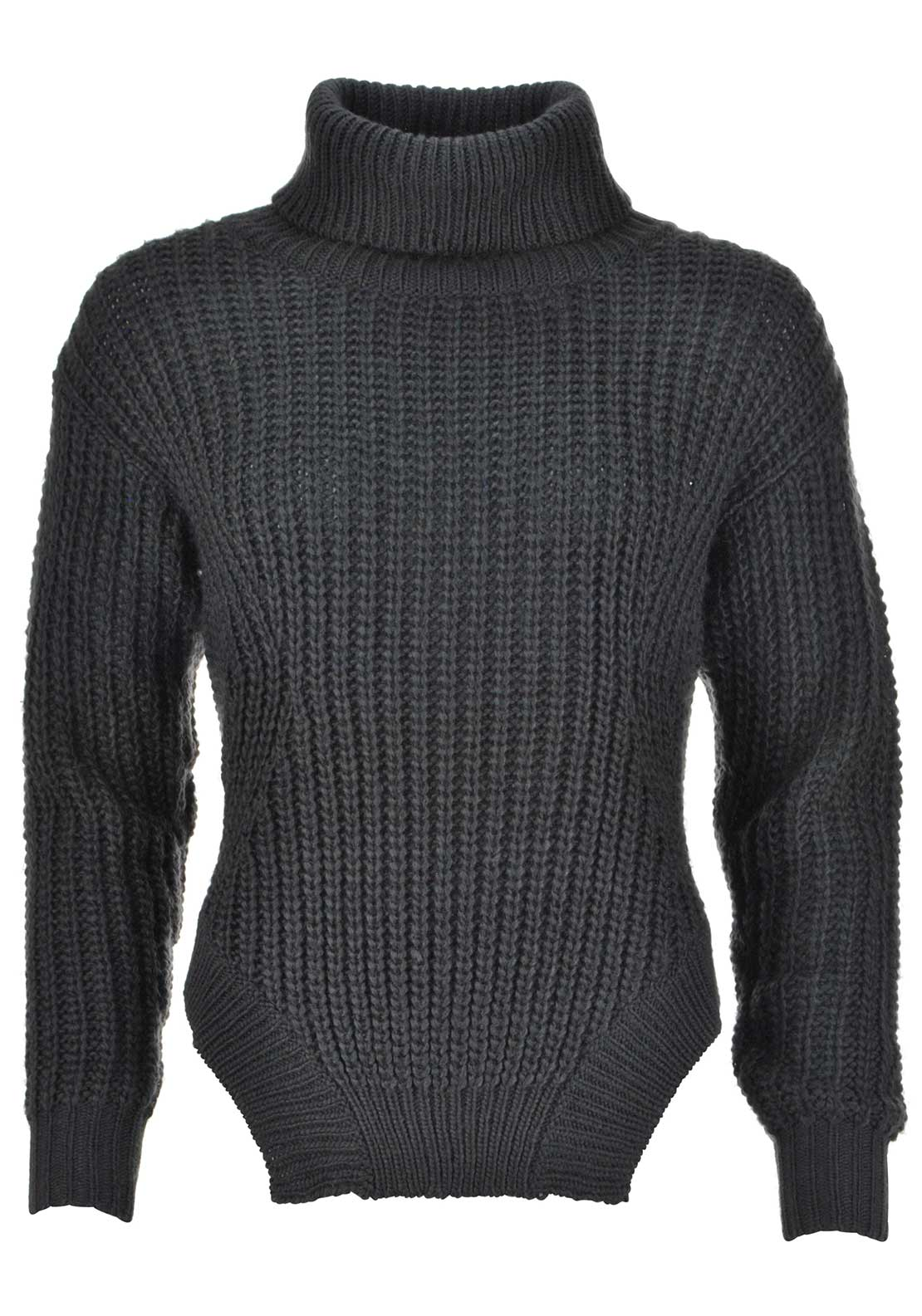 Apanage Wool Blend Chunky Knit Sweater Jumper, Charcoal