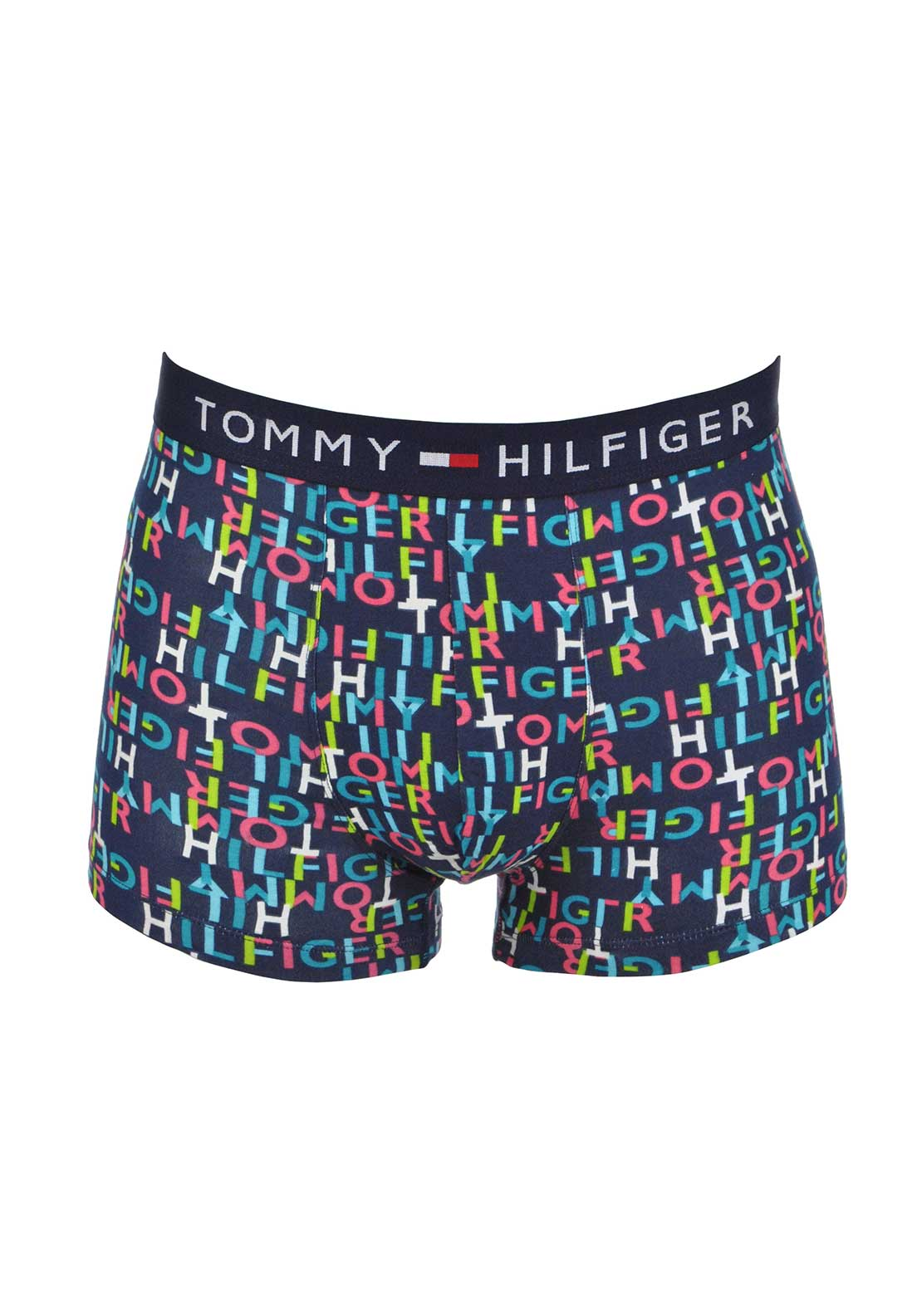 Tommy Hilfiger Mens Keiron Cotton Stretch Printed Boxer Trunks, Multi-Coloured