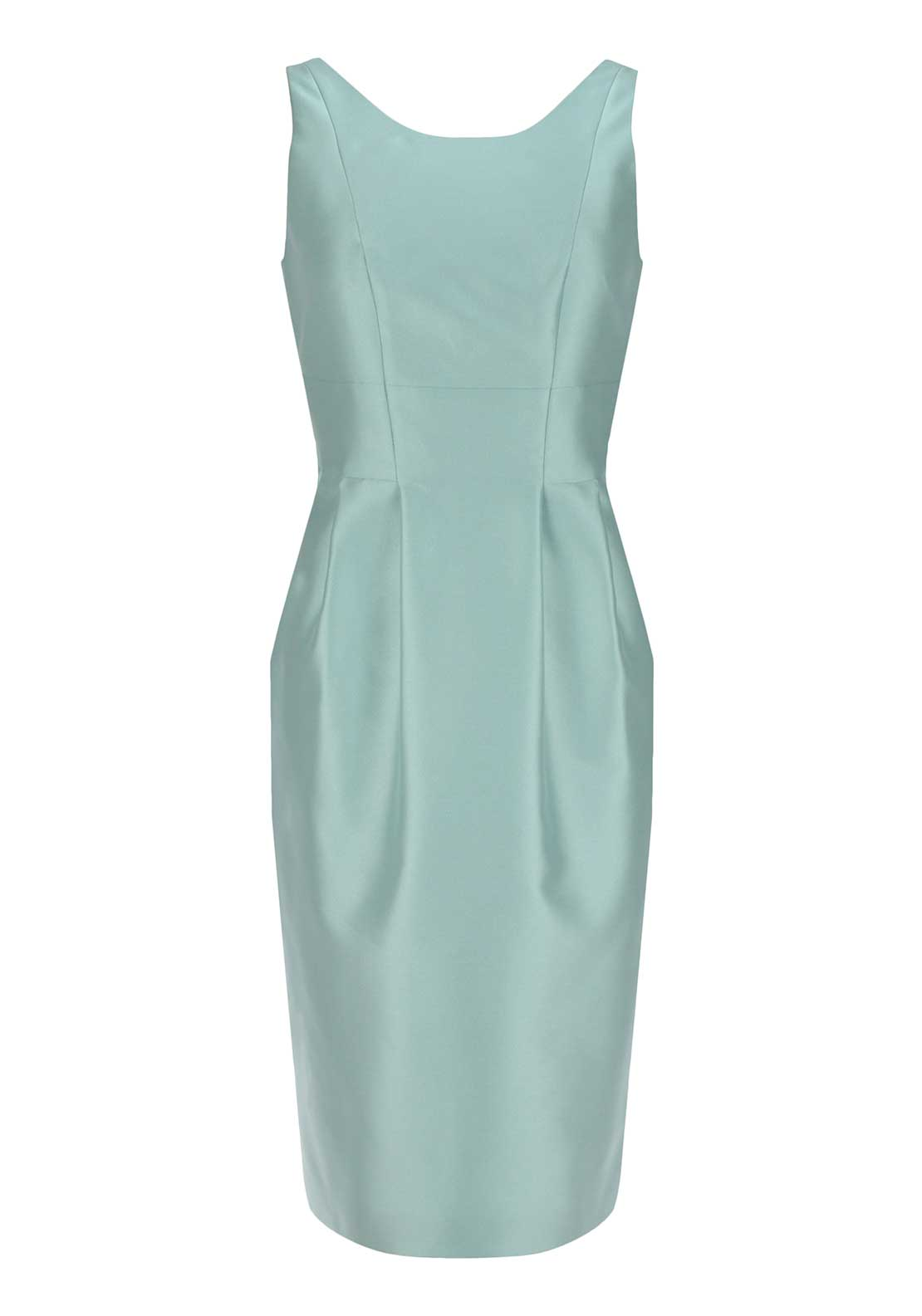 Laura Bernal Satin Pencil Dress Mint Green
