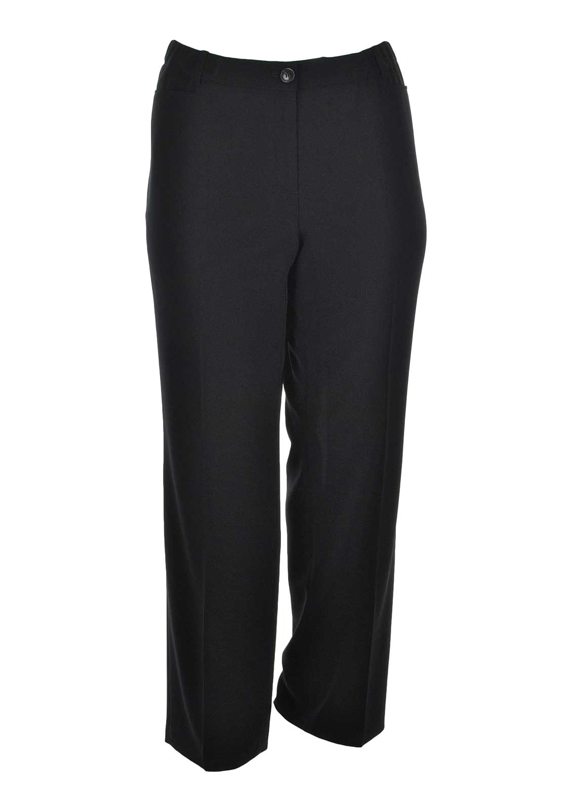Samoon Straight Leg Trousers, Black