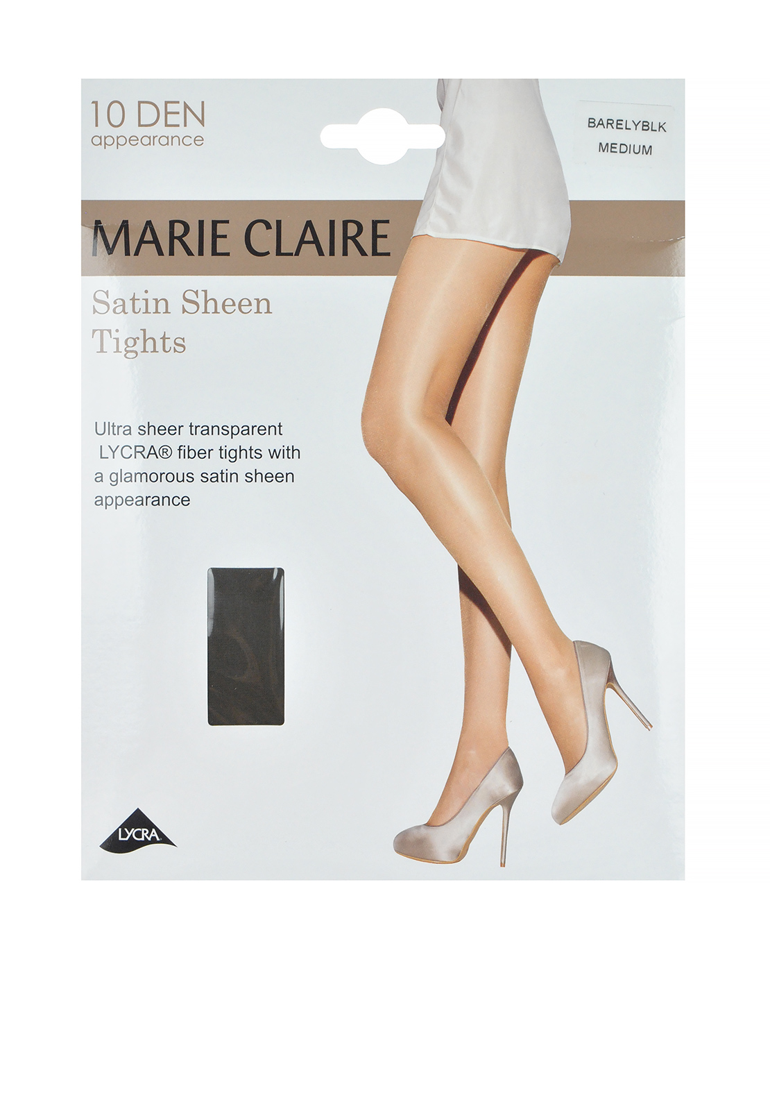 Marie Claire 10 Denier Satin Sheen Tights, Barely Black