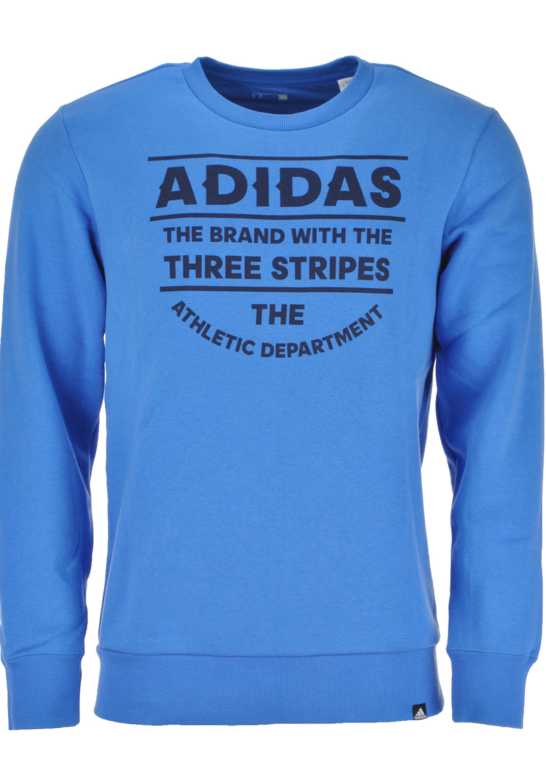 Adidas Mens Athletic D Crew Neck Sweatshirt Jumper, Super Blue