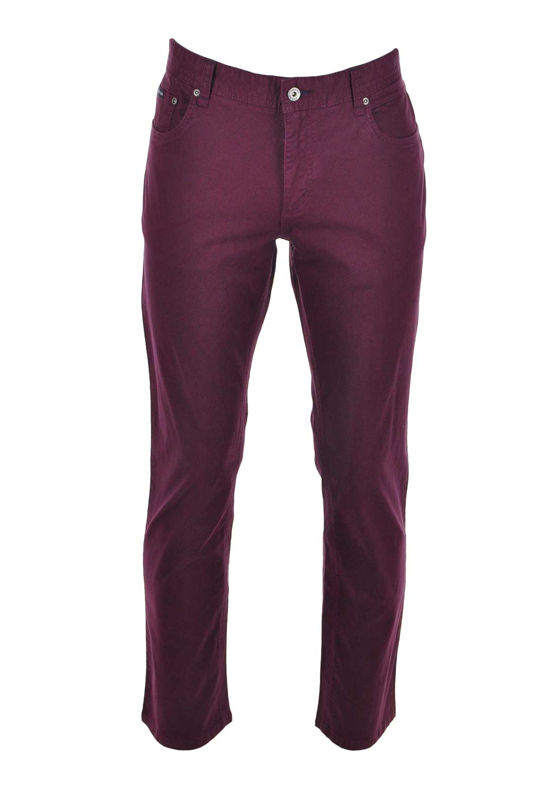 Andre Mens Sergio 5 Pocket Chinos, Berry