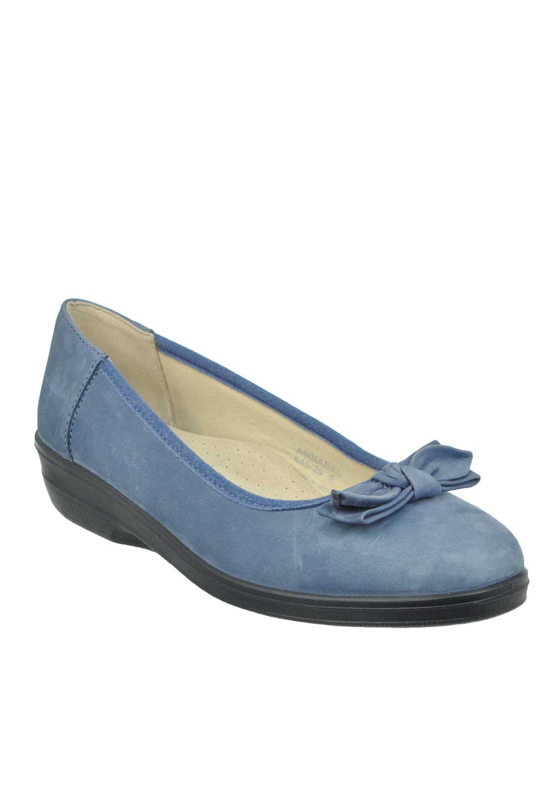 Padders Annabel Suede Bow Pumps, Blue