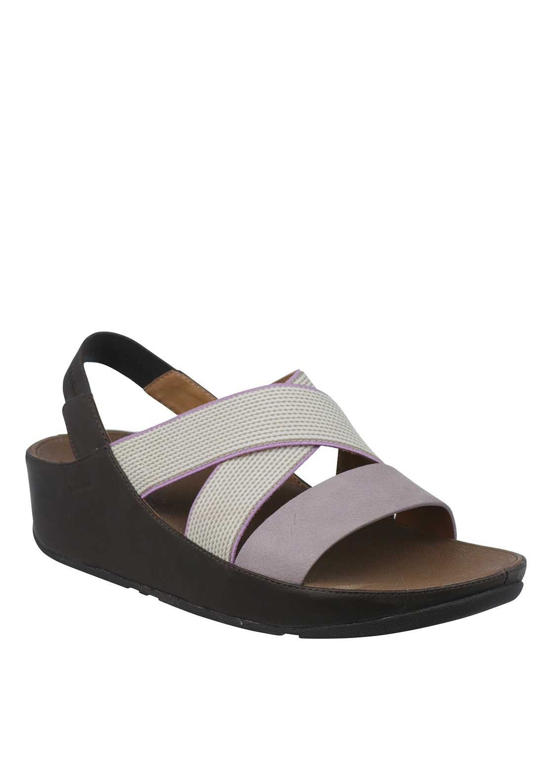 Fit Flop™ Leather Canvas Strap Sling Back Sandals, Lilac and Nude