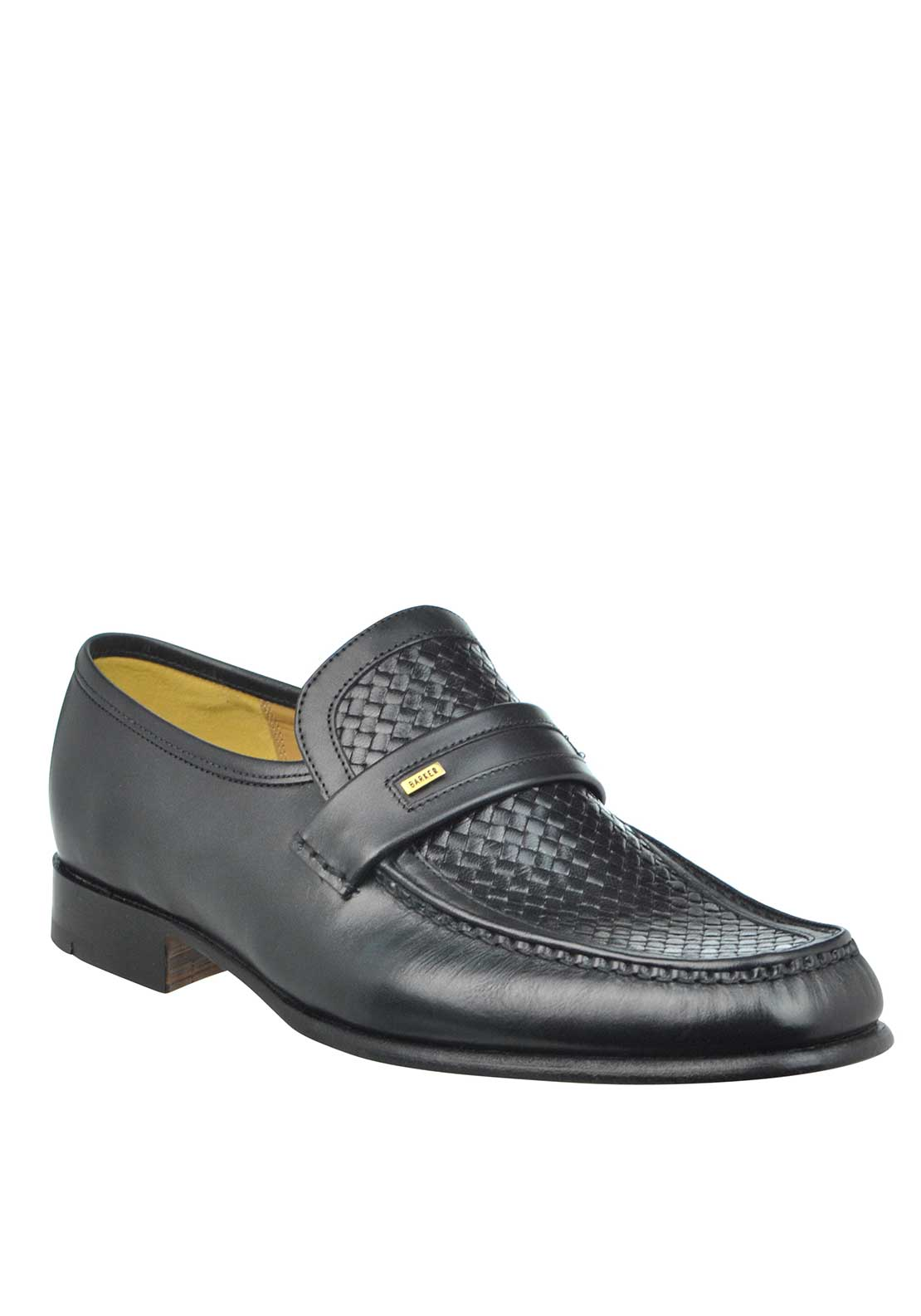 Barker Mens Adrian Moccasin Calf Leather Loafer, Black