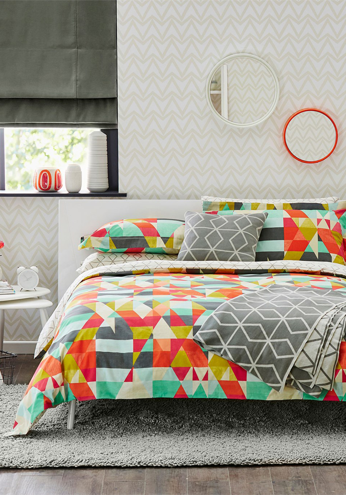 Scion Living Axis Duvet Cover, Multi-Coloured