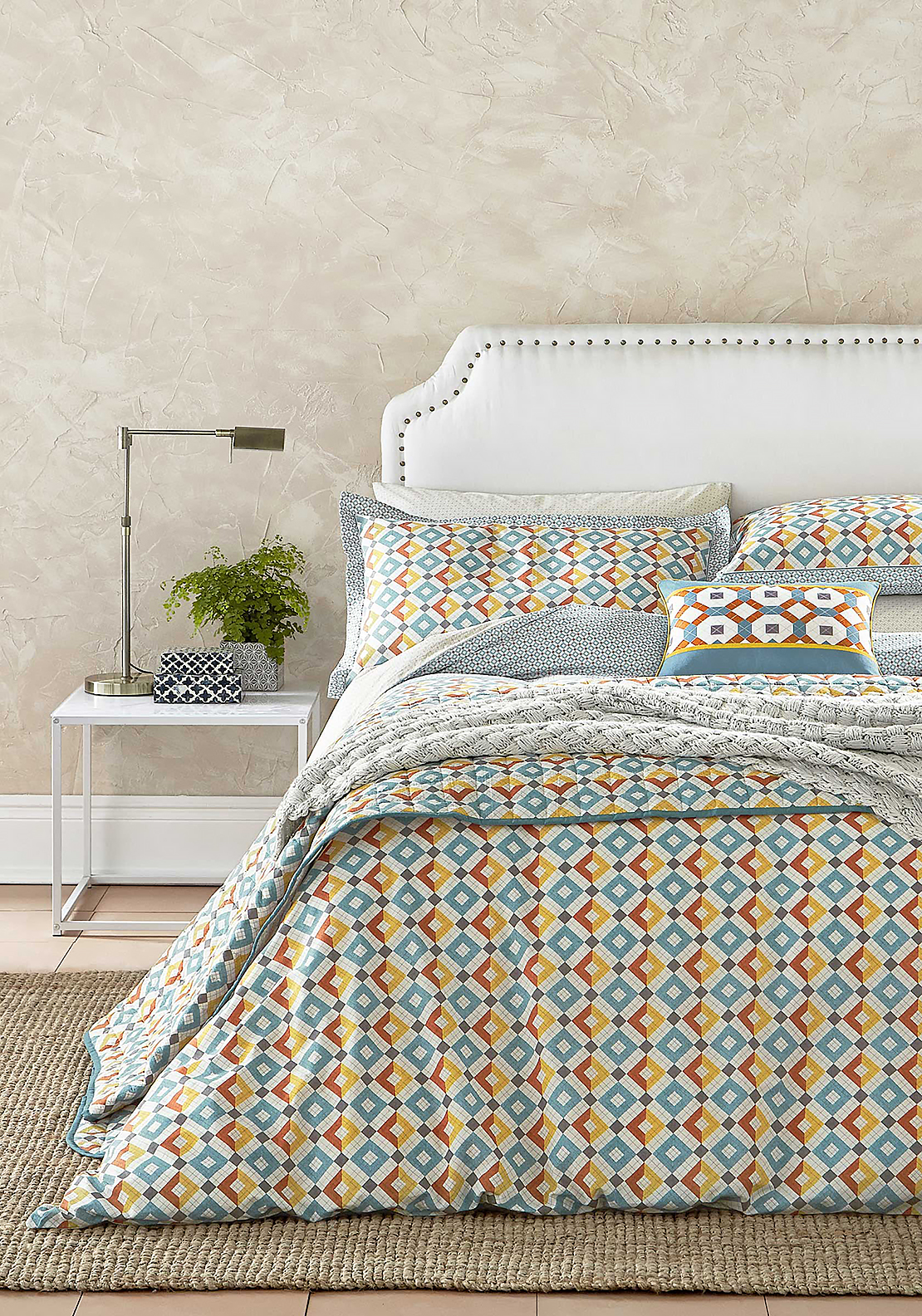 V&A Pompeii Graphic Print Duvet Cover Set, Multi-Coloured