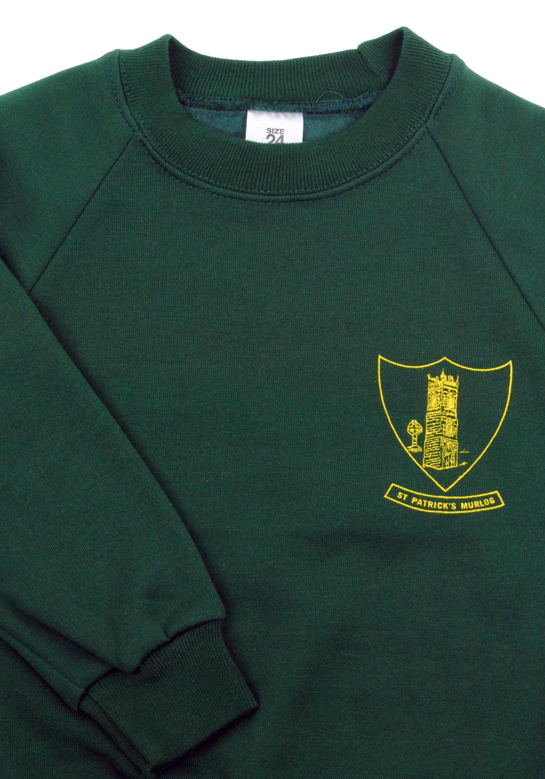 St Patricks Murlog N.S. School Jumper, Green