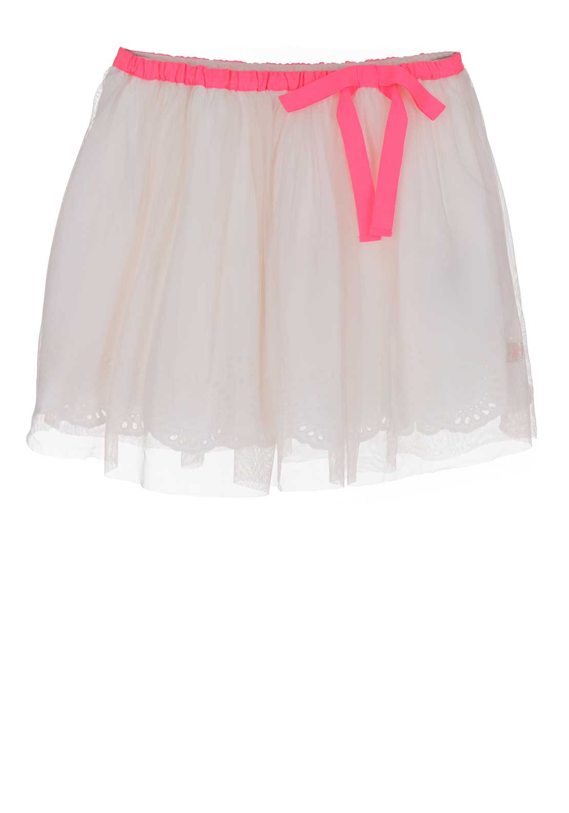 Billieblush Lace Lined Tulle Skirt, White