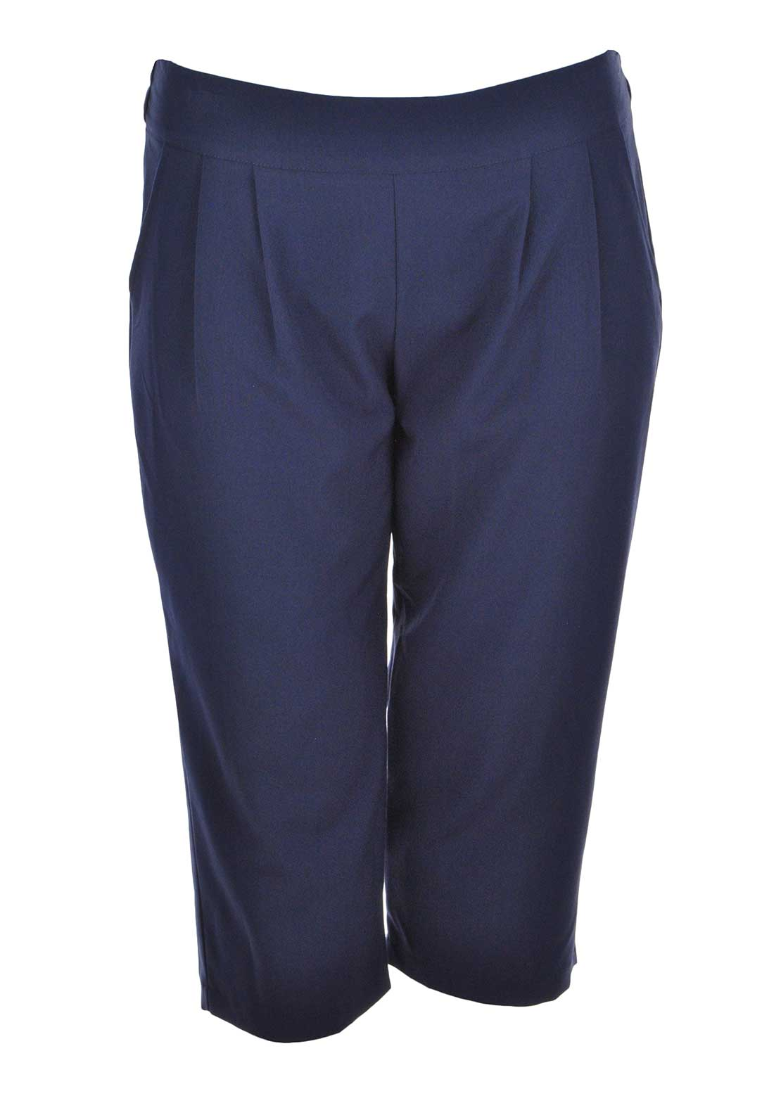 Lovedrobe Cropped Trousers, Navy