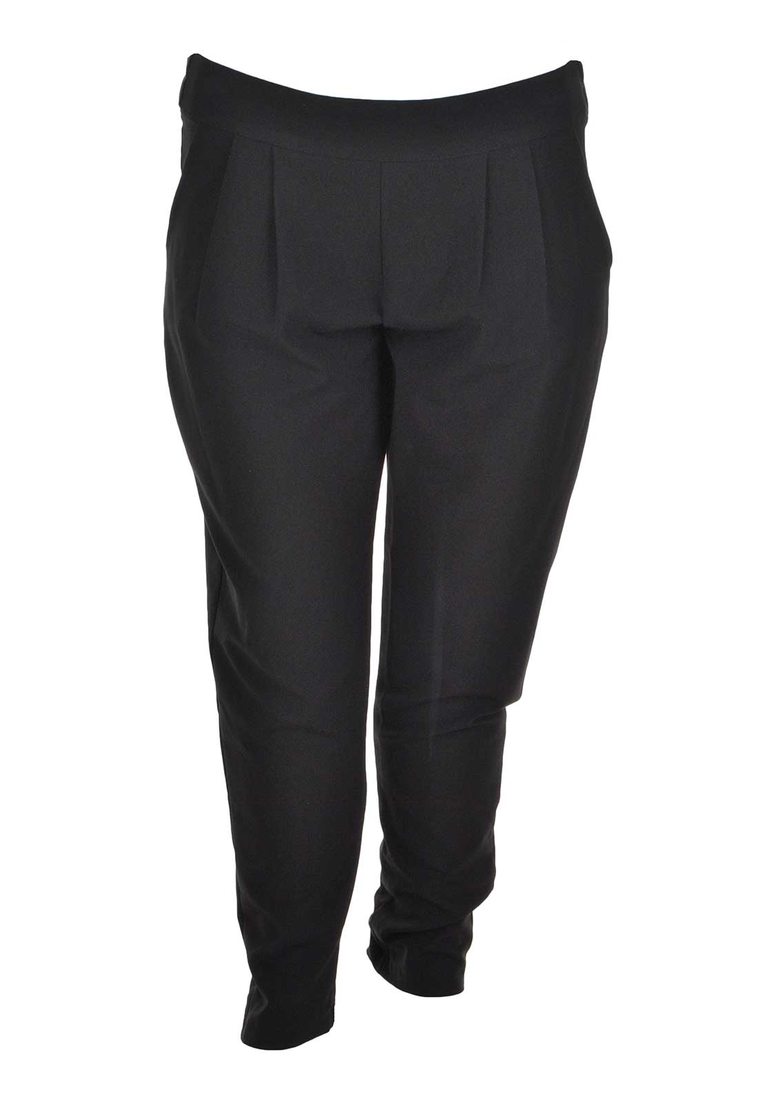 Lovedrobe Slim Leg Trousers, Black