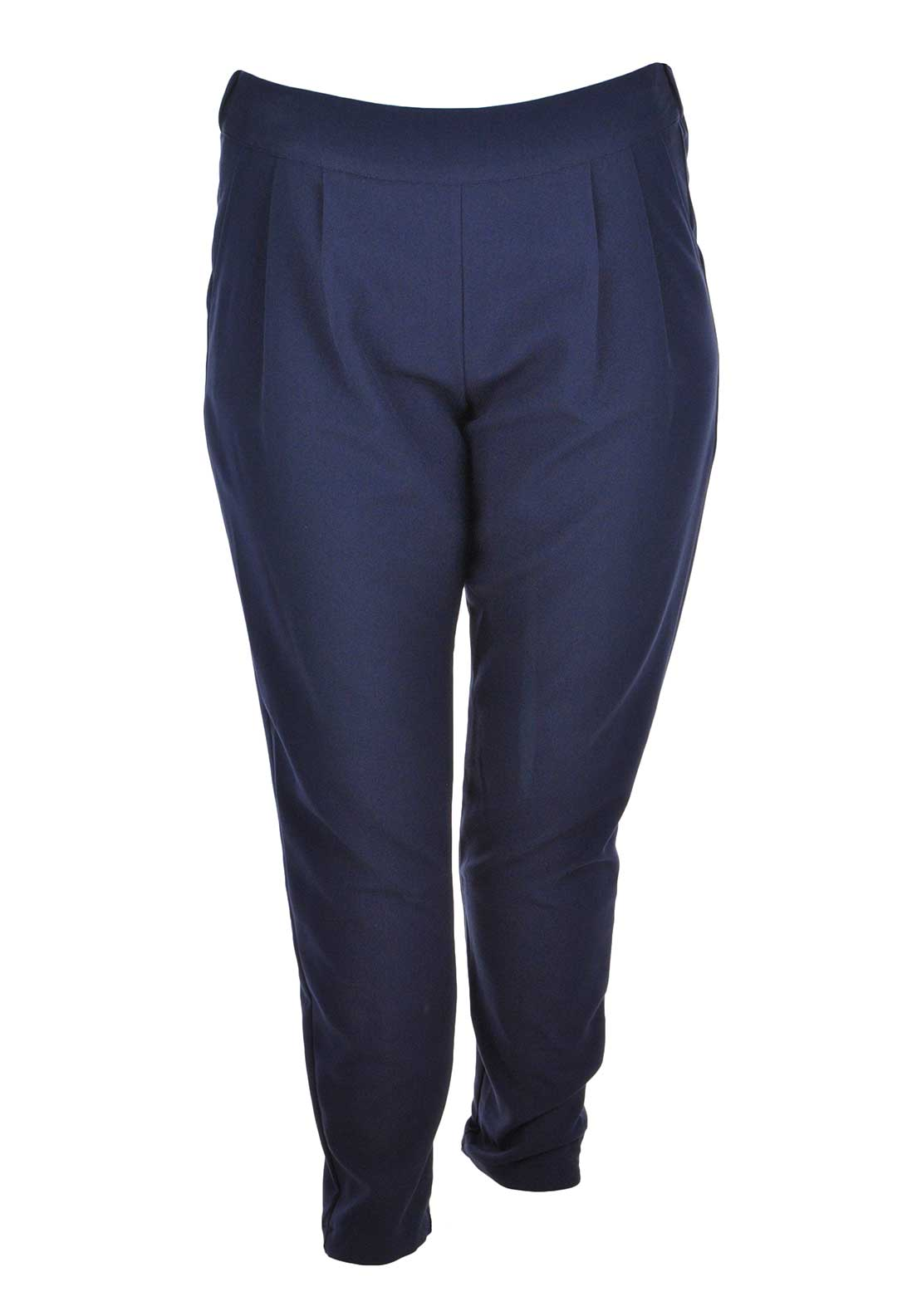 Lovedrobe Slim Leg Trousers, Navy