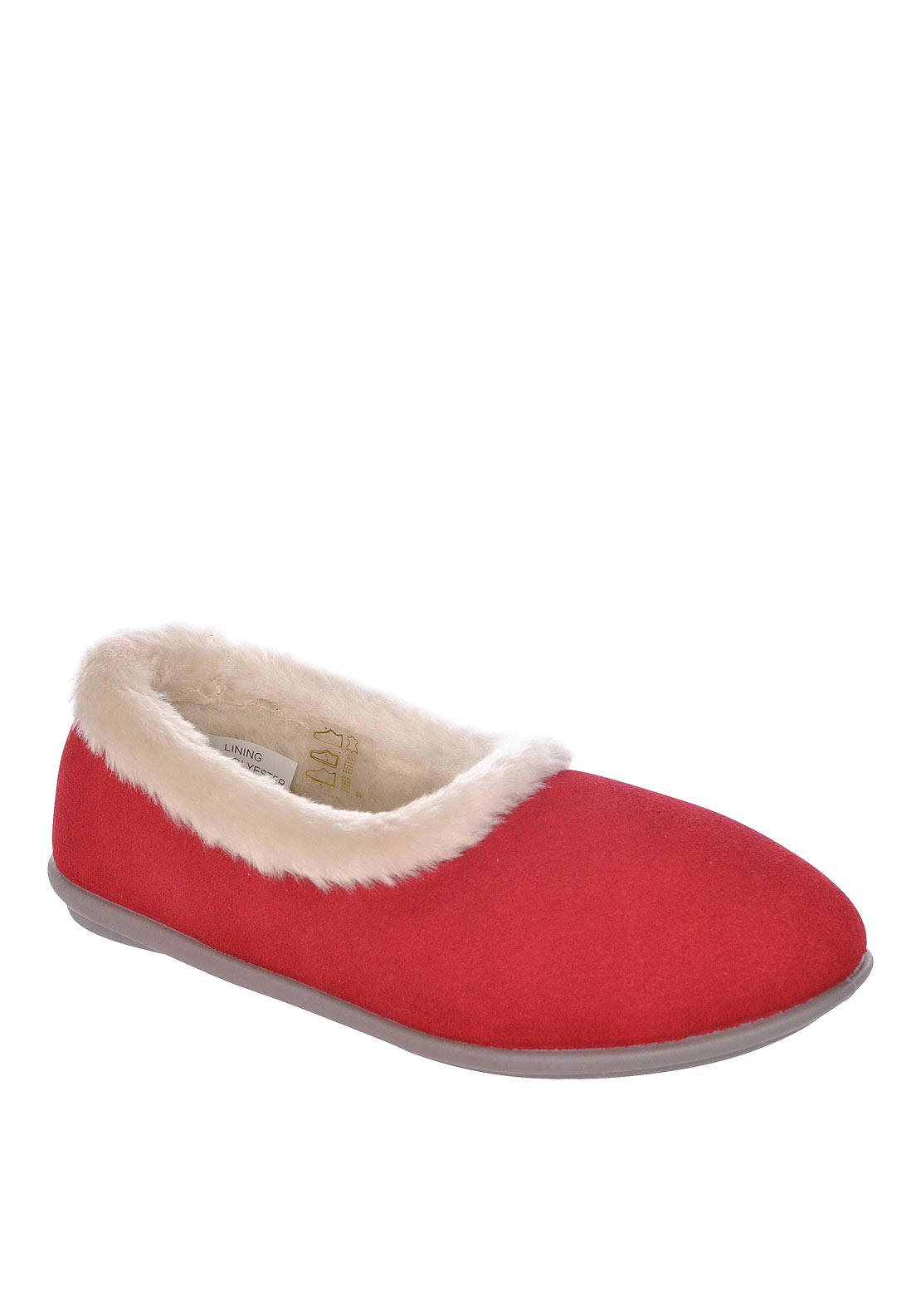 Lotus Womens Blair Faux Fur Slippers, Red