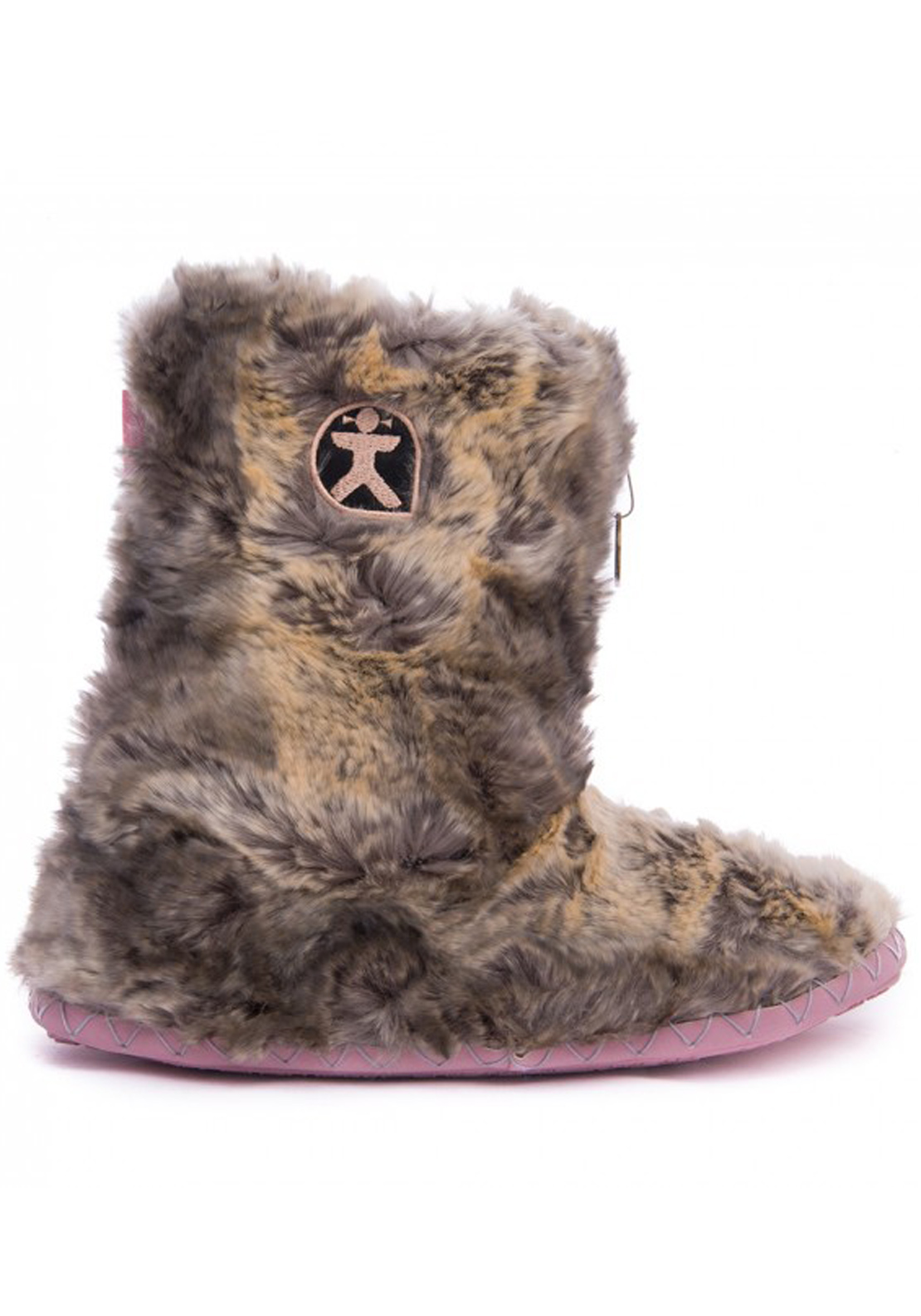 Bedroom Athletic Womens Cole Fluffy Slipper Boots, Mink