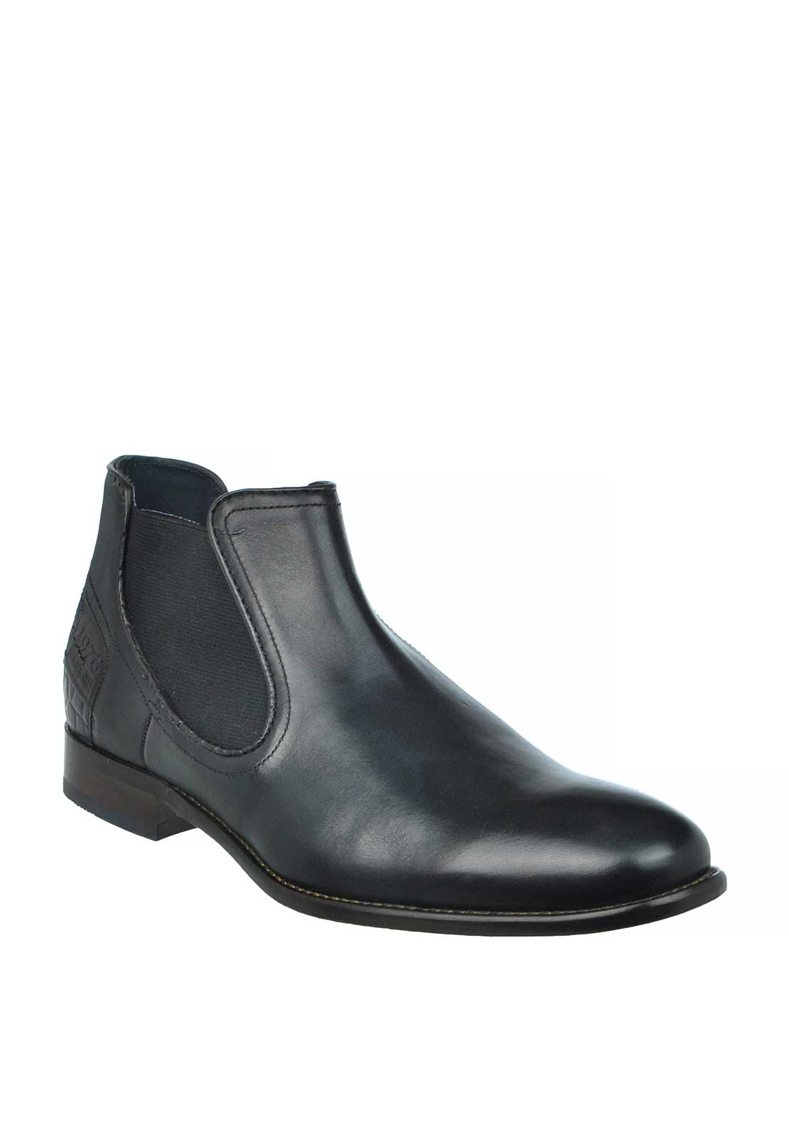 Bugatti Leather Chelsea Boots, Black