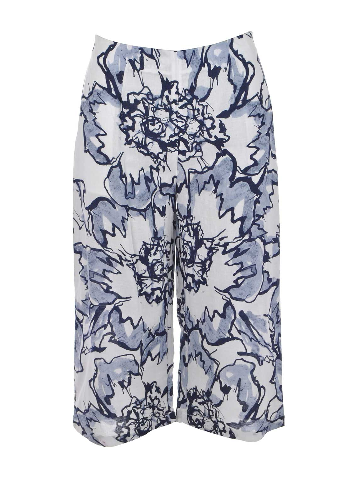 Boutique Graphic Print Culottes, Blue