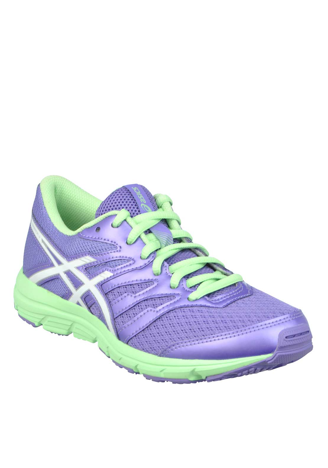 Asics Girls Gel Zaraca 4 Runners, Lilac and Mint