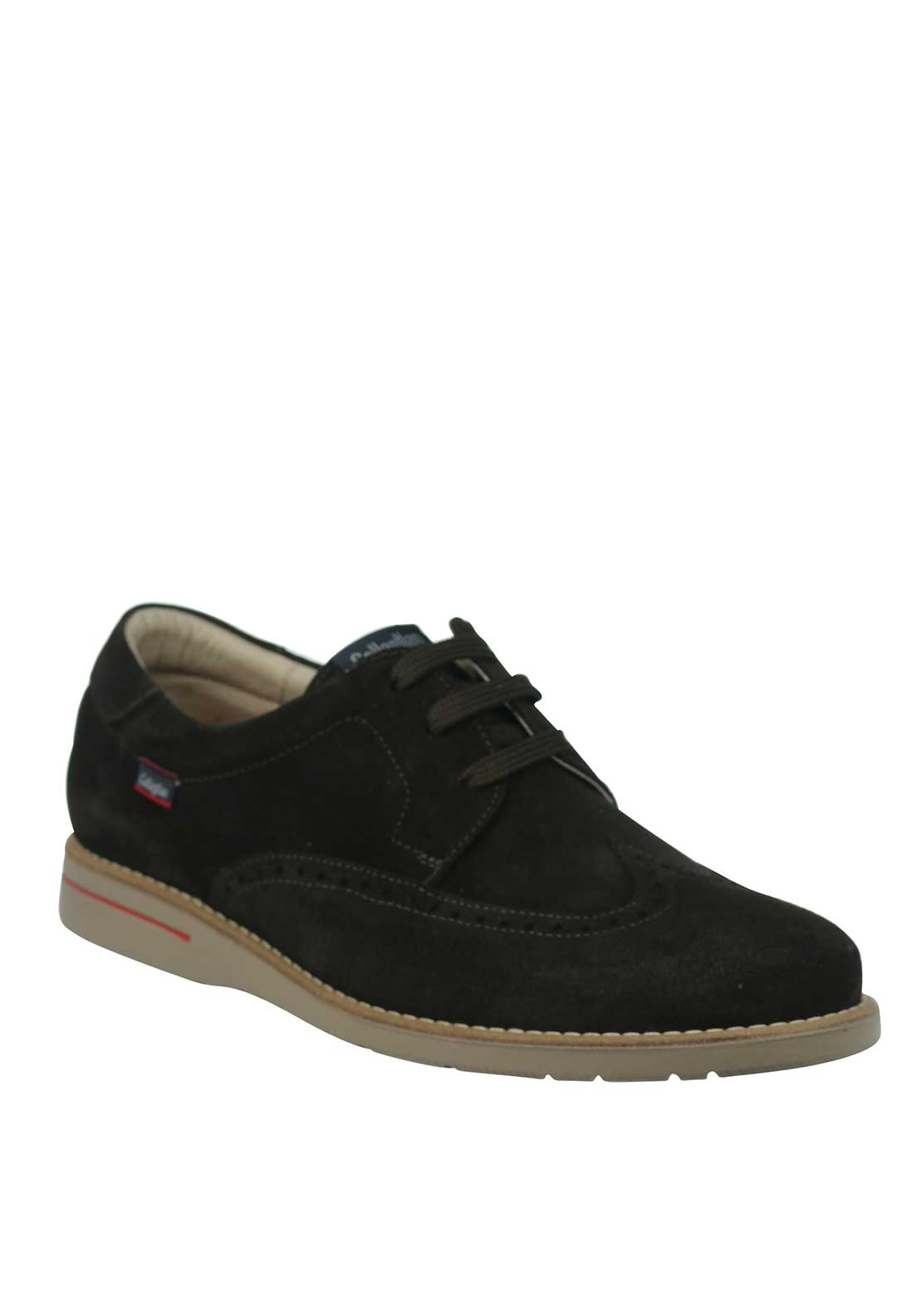 Callaghan Lace Up Suede Brogue Shoe, Dark Brown