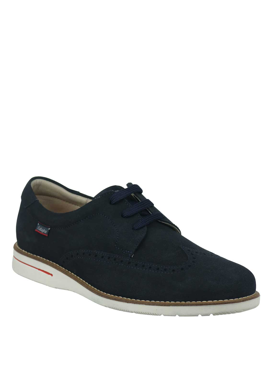 Callaghan Lace Up Suede Brogue Shoe, Navy