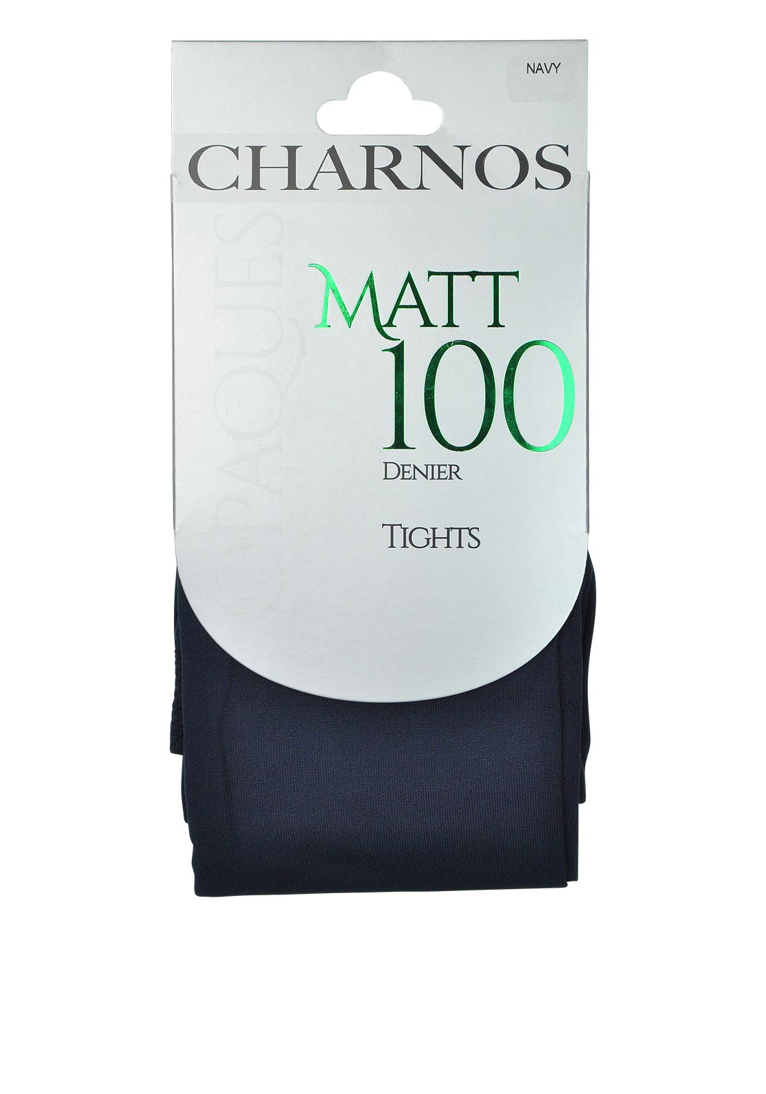 Charnos Opaques Matt 100 Denier Tights, Navy