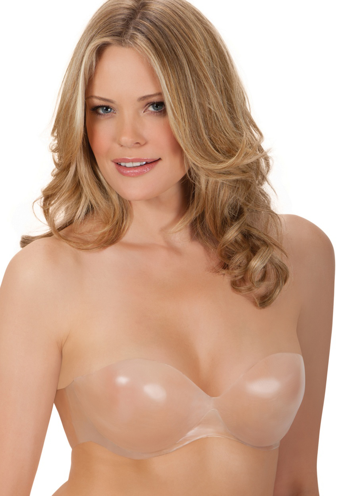 Fashion Forms Body Sculpting Backless Strapless Bra, Transparent