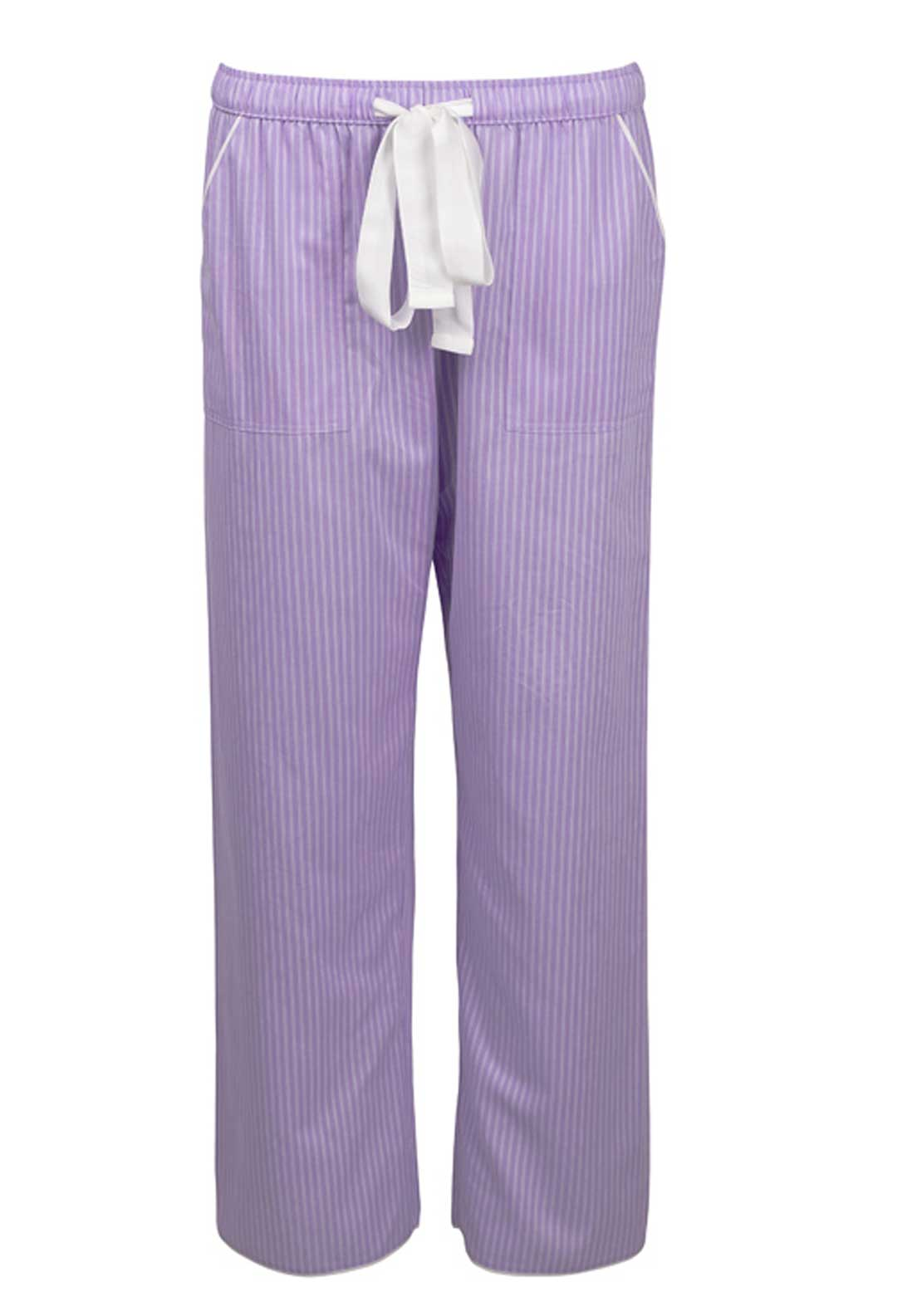 Cyberjammies Patchwork Aviary Striped Pyjama Bottoms, Lilac