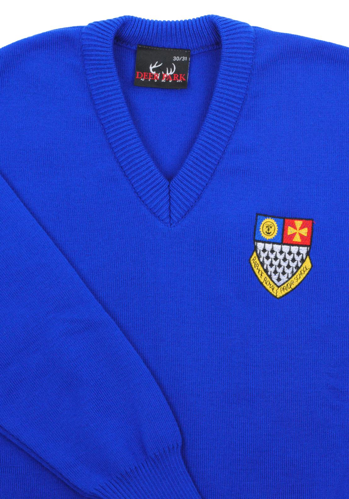Deer Park Raphoe Royal & Prior School Jumper, Blue