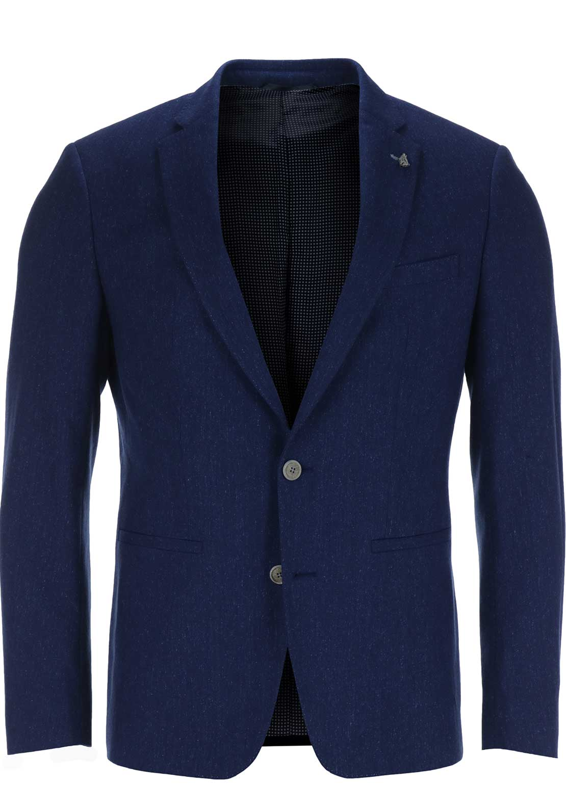 Remus Uomo Mens Tortino Two Button Blazer, Blue