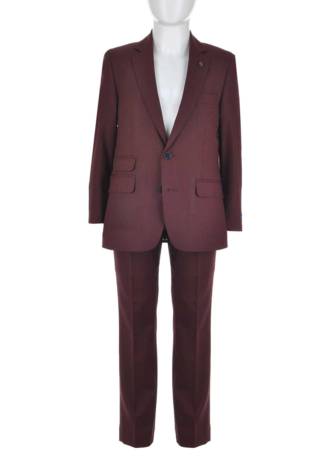 1880 Club Boys Woven Two Piece Suit, Wine