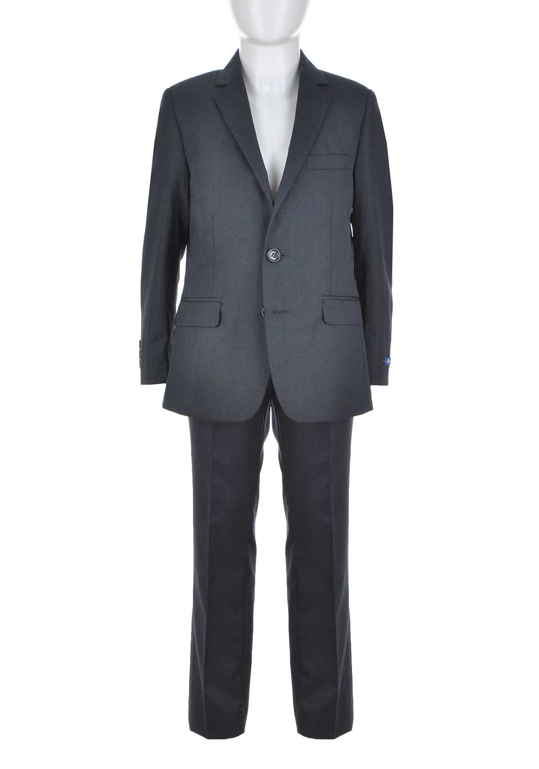 1880 Club Boys Twill Woven Two Piece Suit, Grey