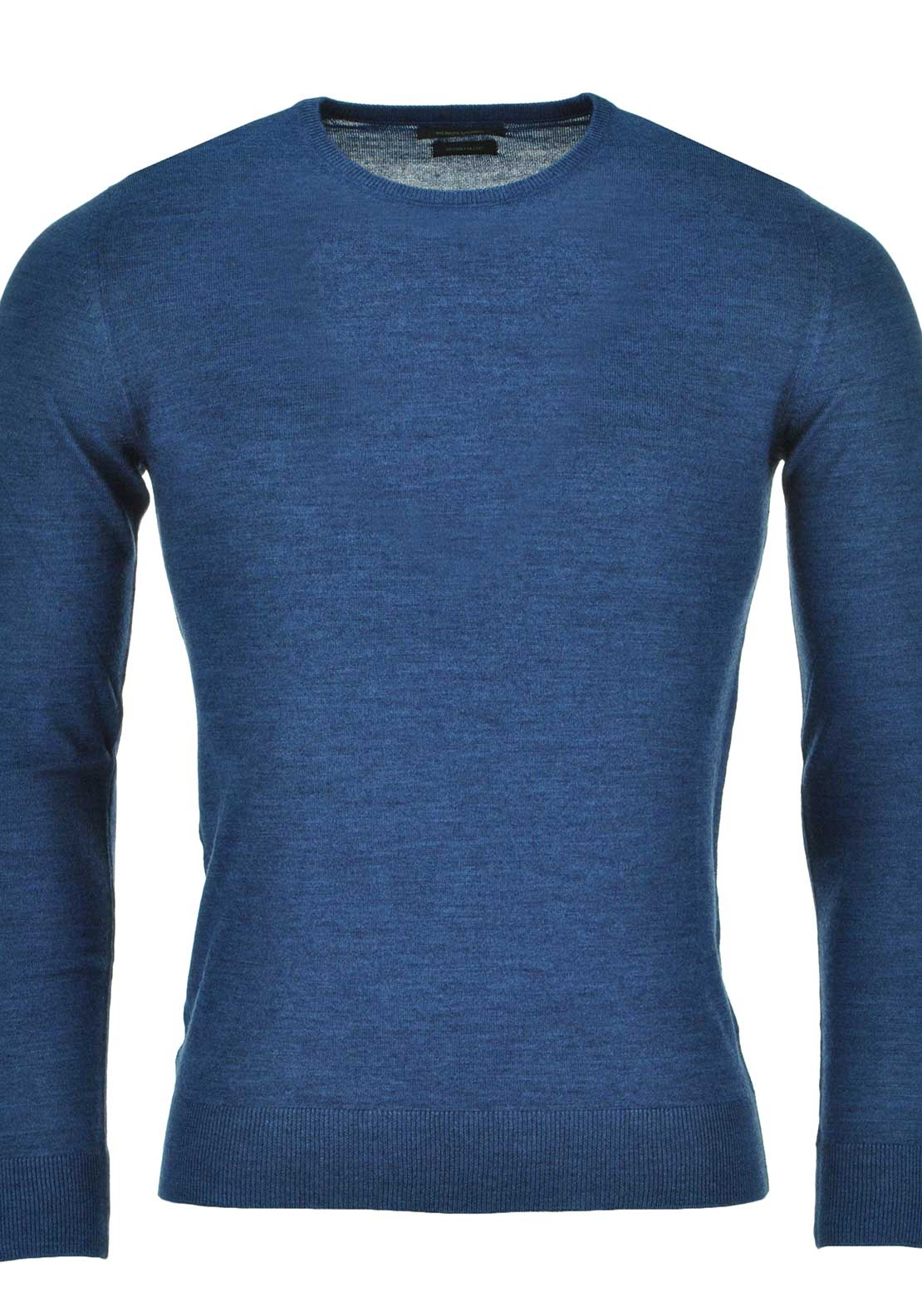 Remus Uomo Mens Long Sleeved Crew Neck Sweater, Blue