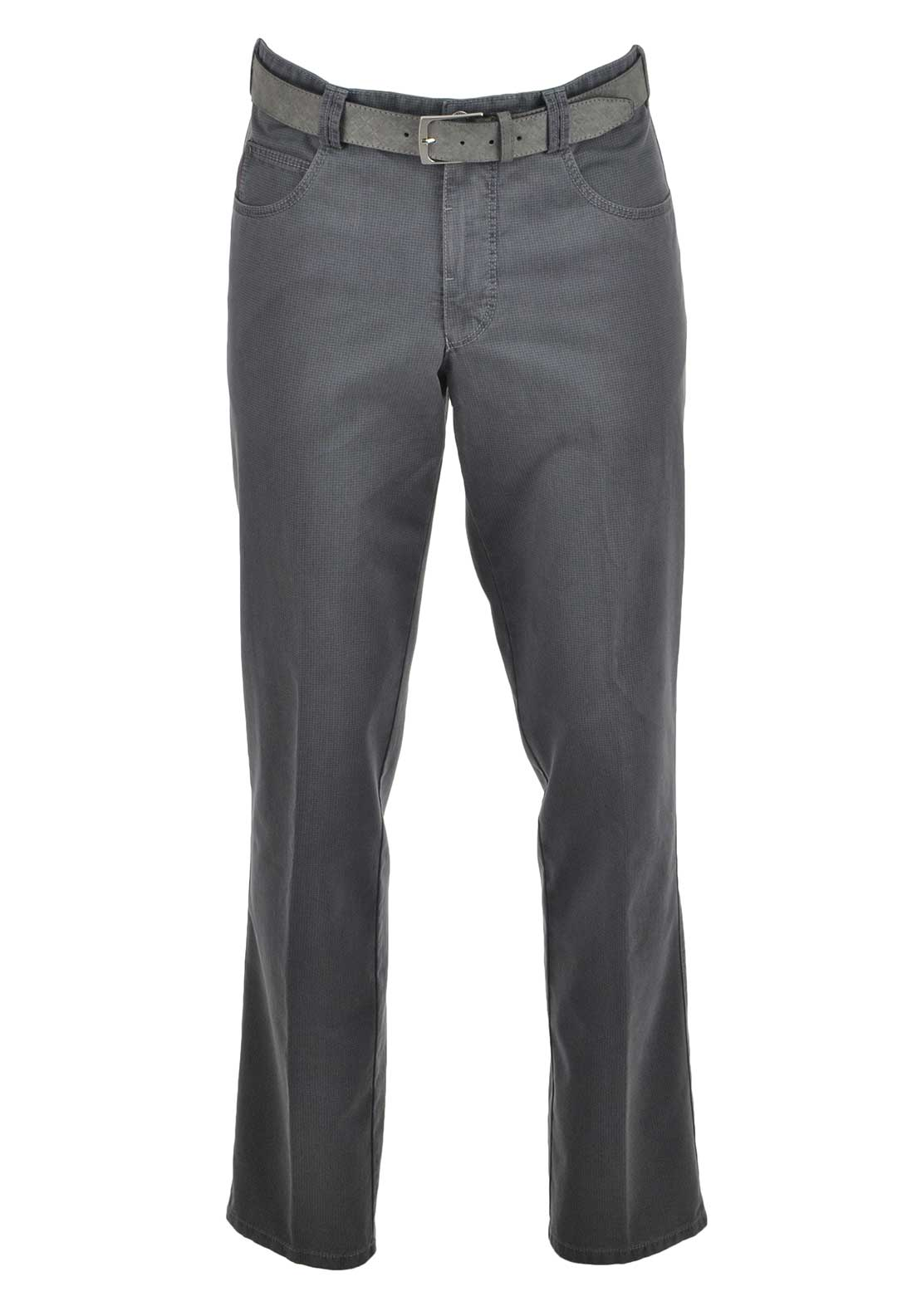 Meyer Mens Modern Printed Diego Trousers, Grey