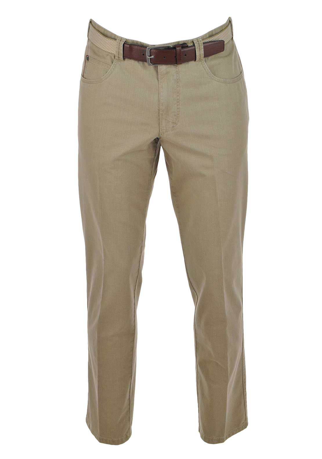 Meyer Diego Cotton Comfort Trouser, Beige