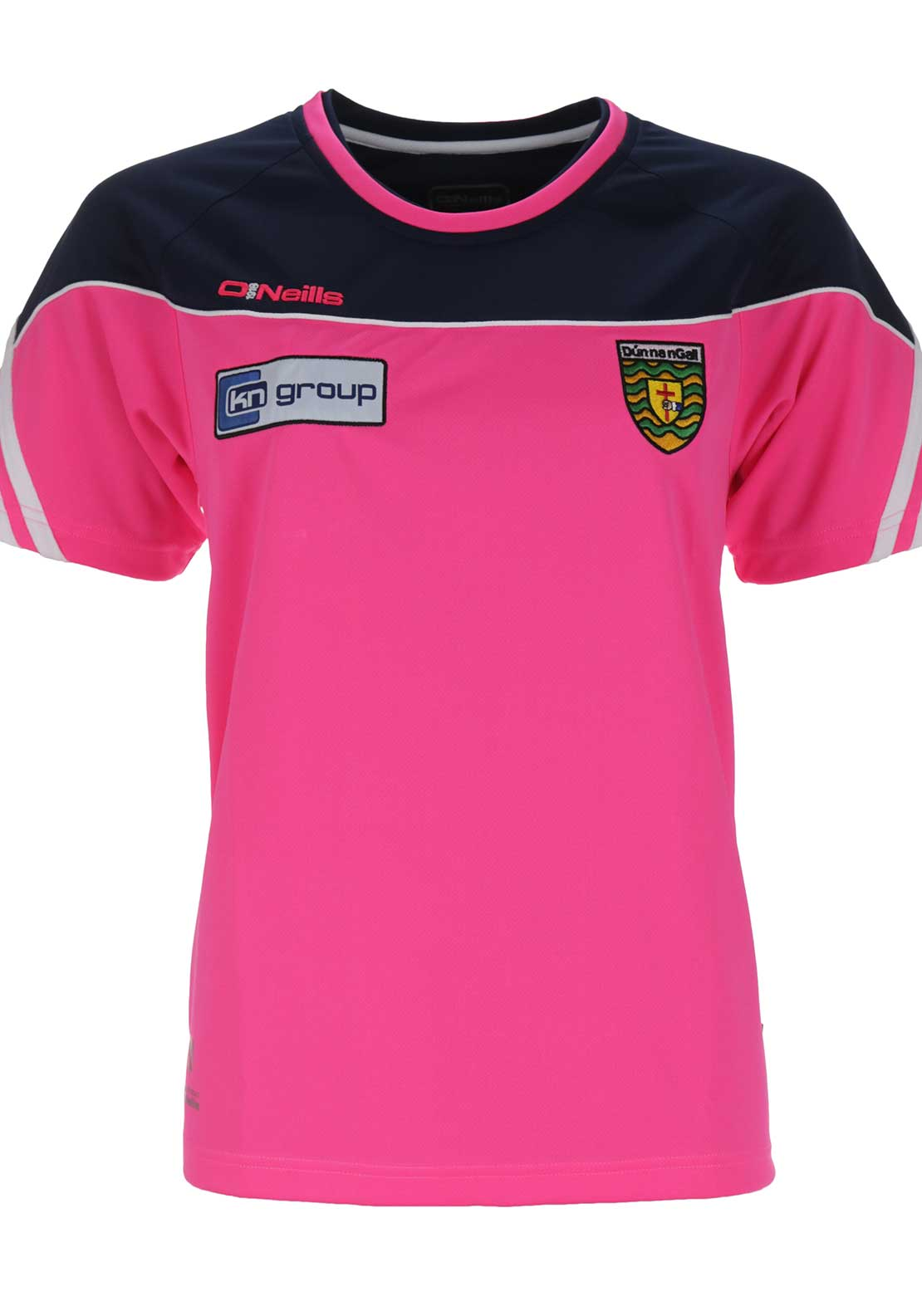 O'Neills Donegal GAA Girls Parnell Training T-Shirt, Pink