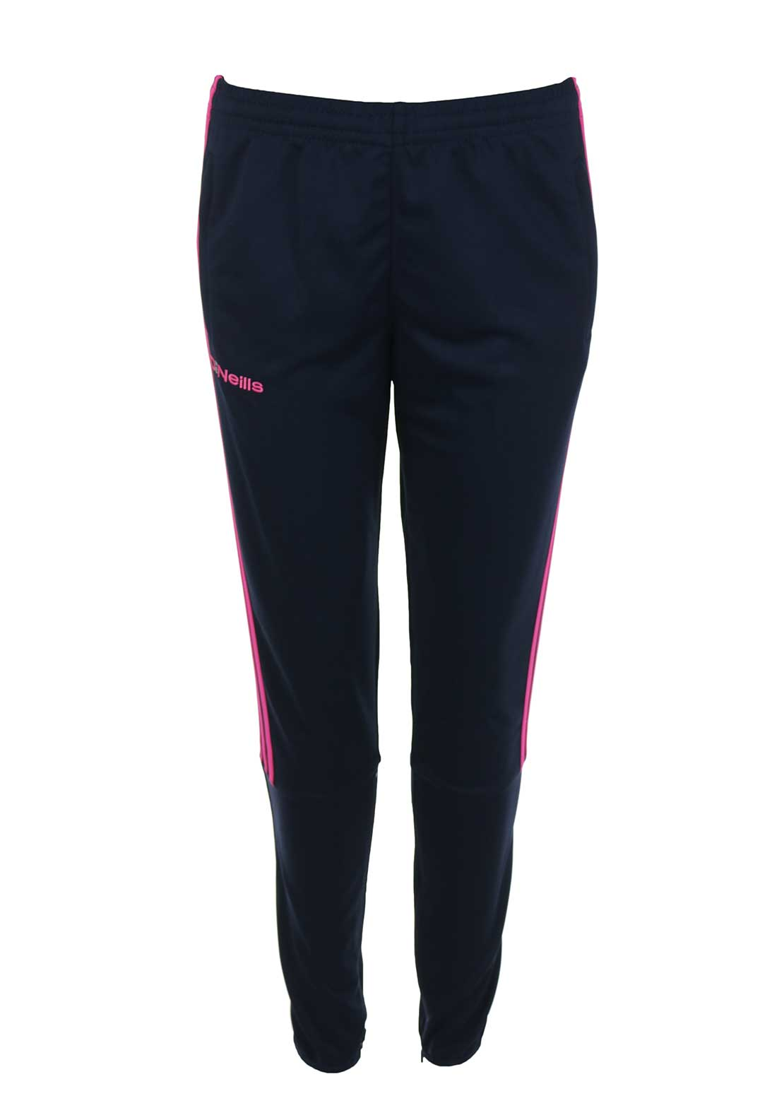 O'Neills GAA Womens Darwin Skinny Training Bottoms, Navy and Pink