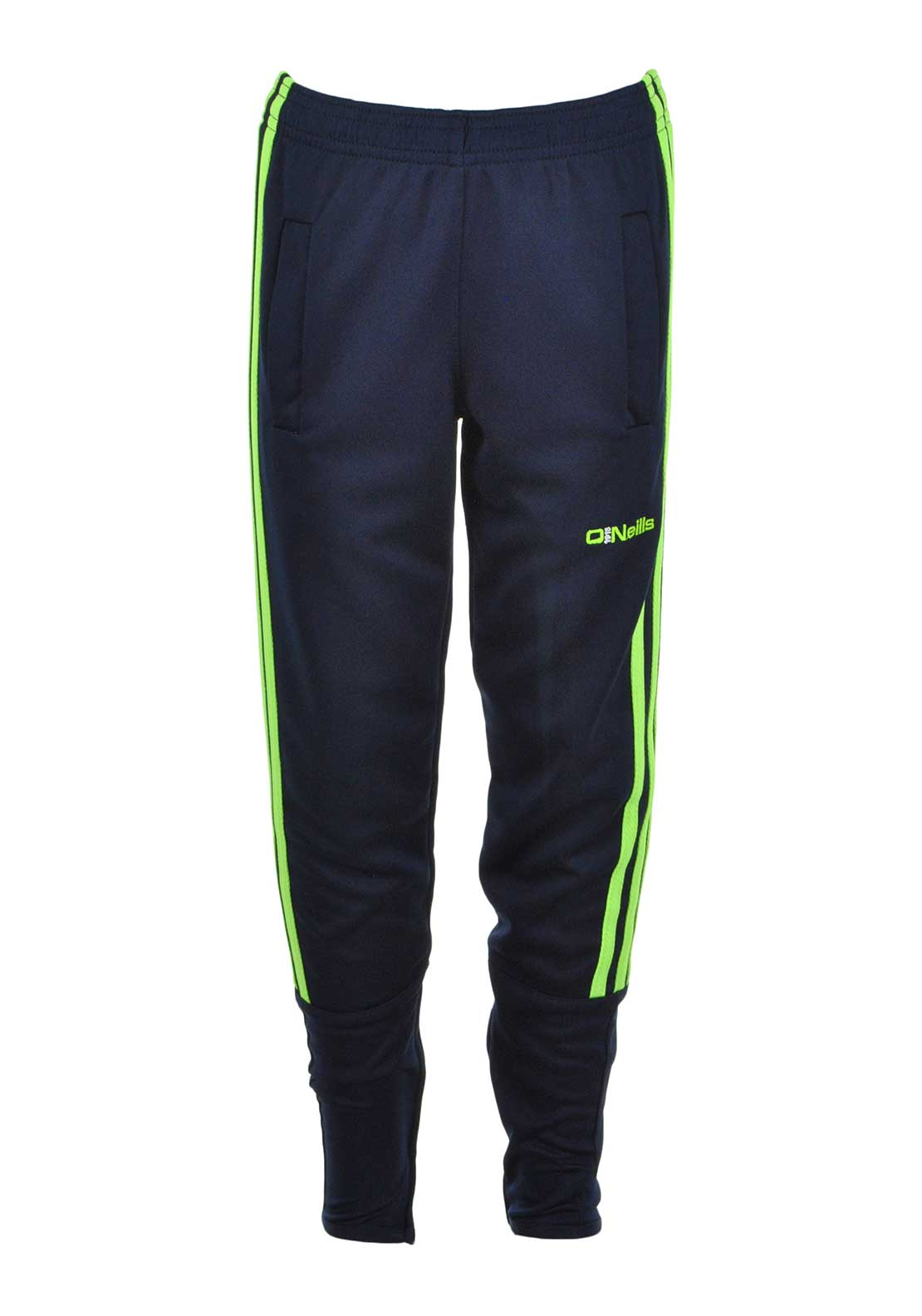 O'Neill's Boys Darwin Training Pant Bottoms, Marine and Neon Lime