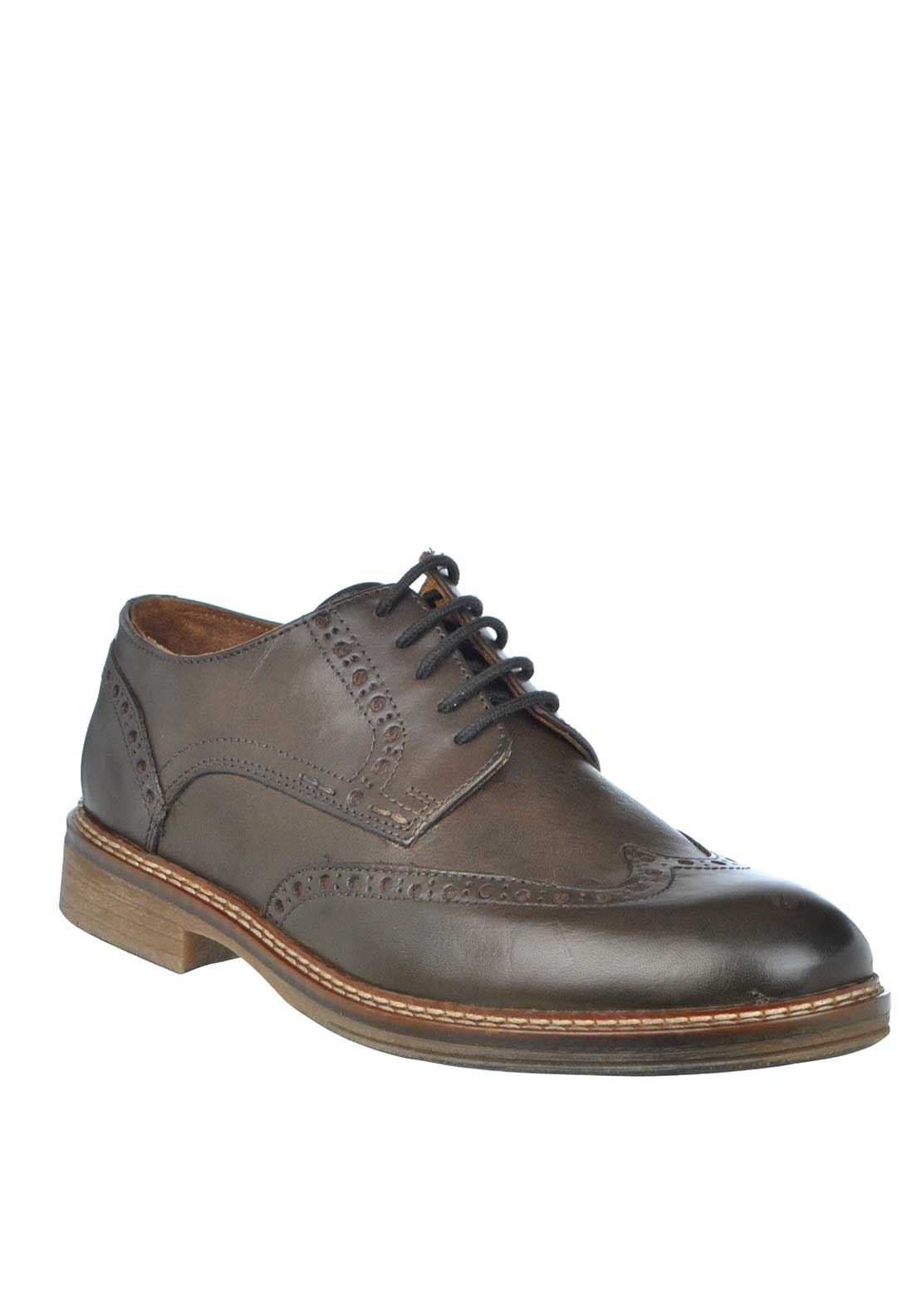 Dubarry Stefan Leather Lace Up Brogue Shoe, Mahogany Brown