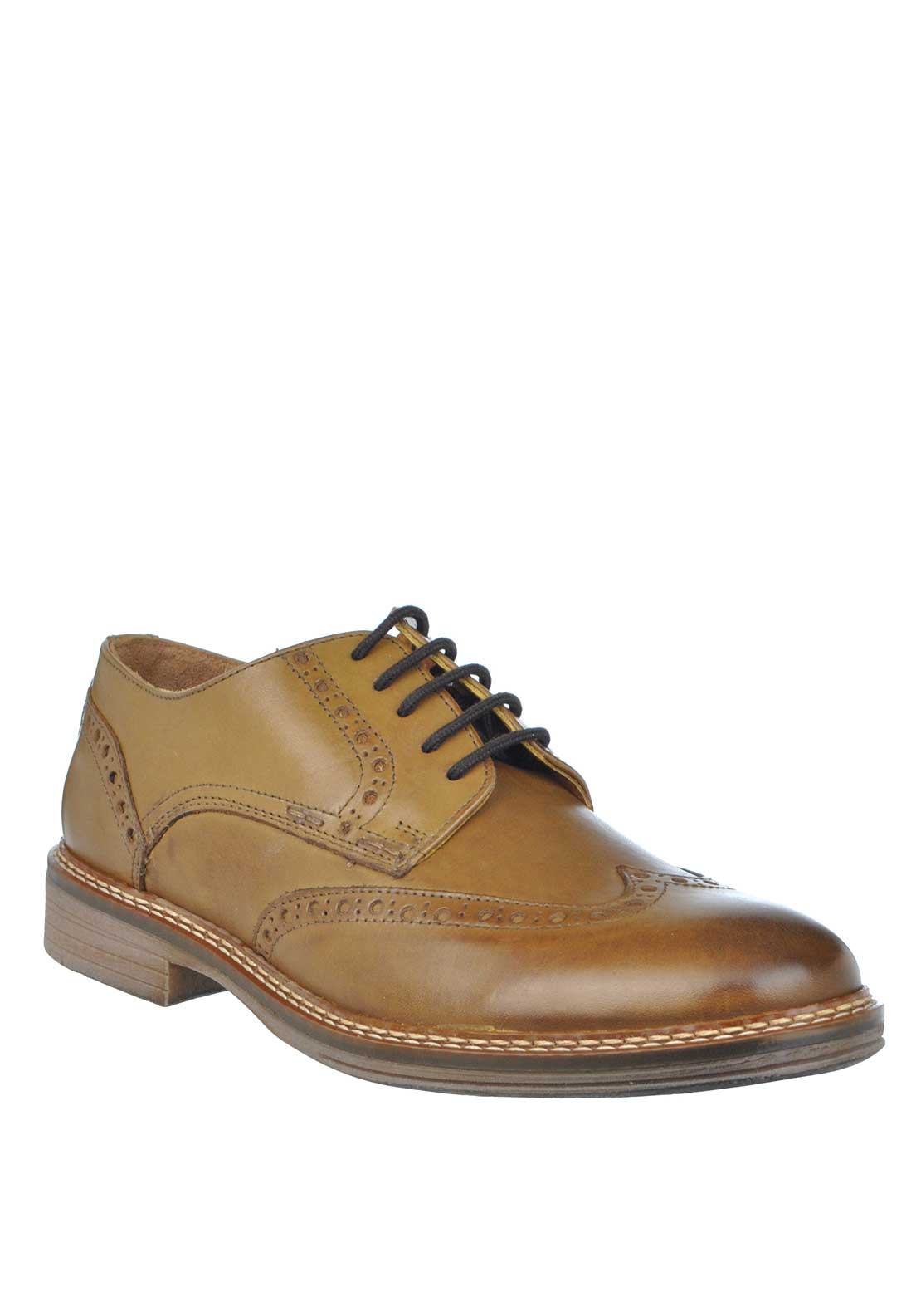 Dubarry Stefan Leather Lace Up Brogue Shoe, Tan